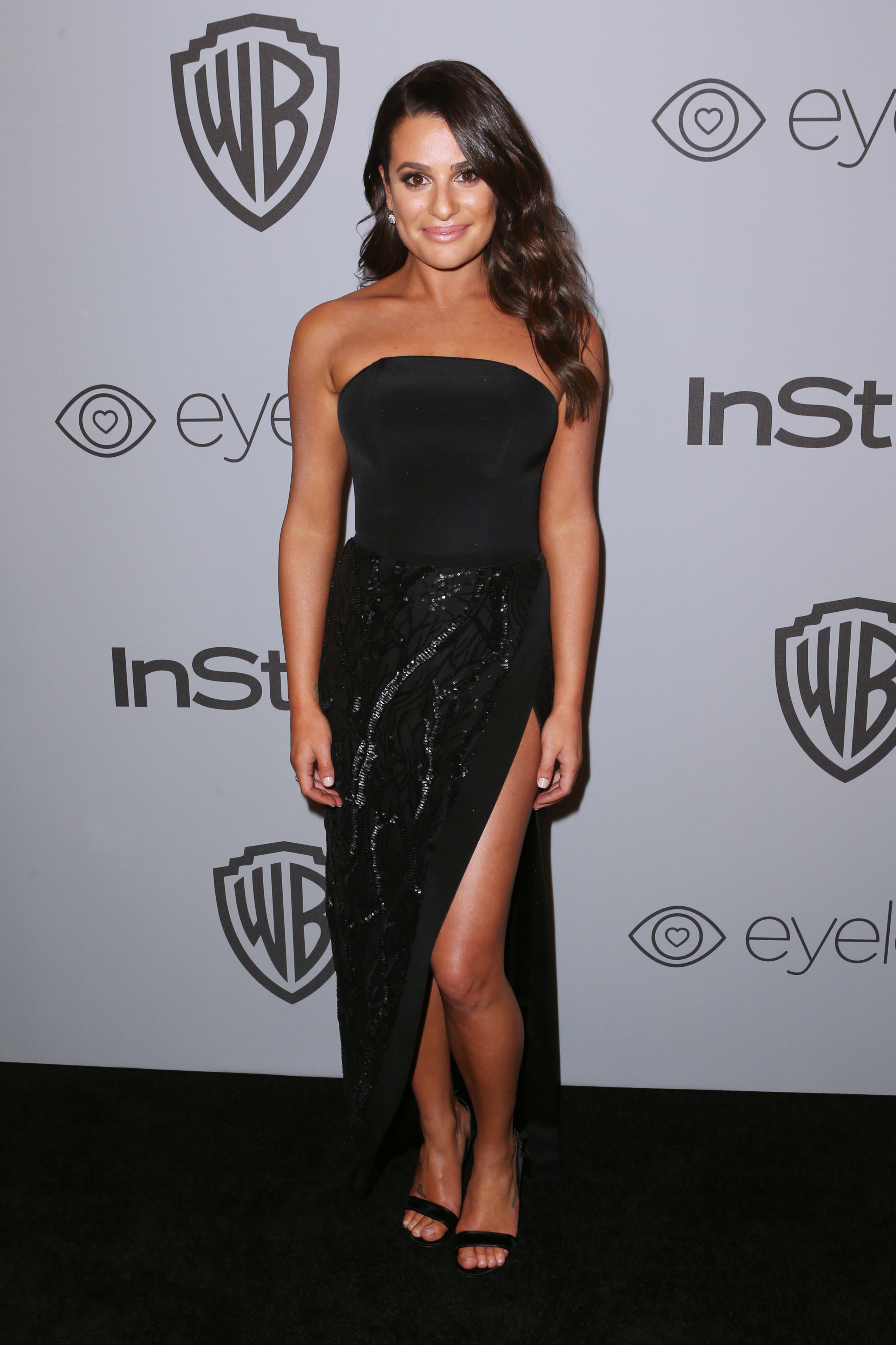 Lea Michele attends the InStyle and Warner Bros. Golden Globes afterparty in Beverly Hills on Jan. 7, 2018.