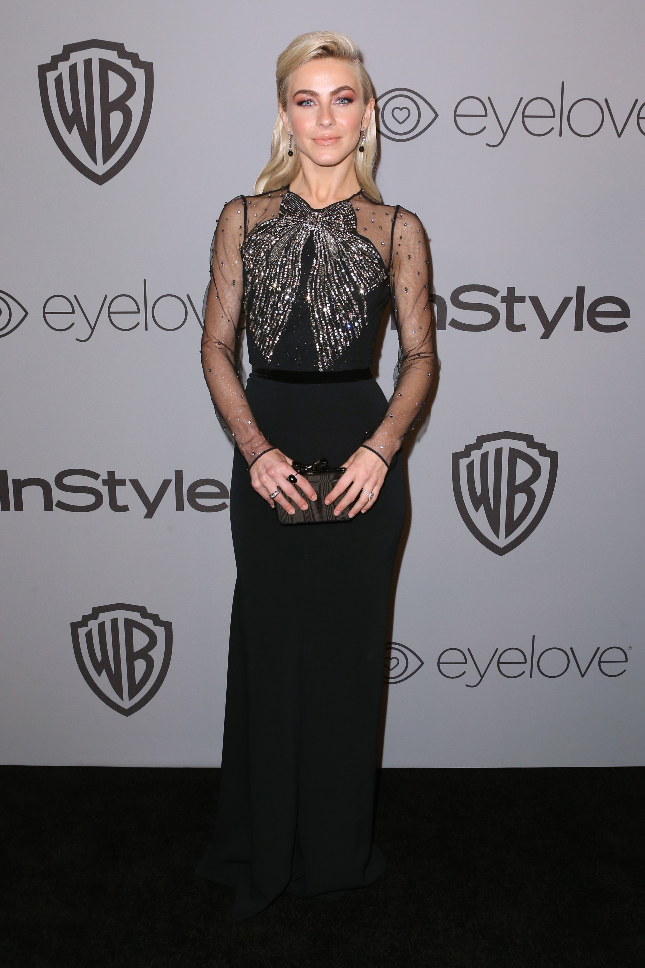 Julianne Hough attends the InStyle and Warner Bros. Golden Globes afterparty in Beverly Hills on Jan. 7, 2018.
