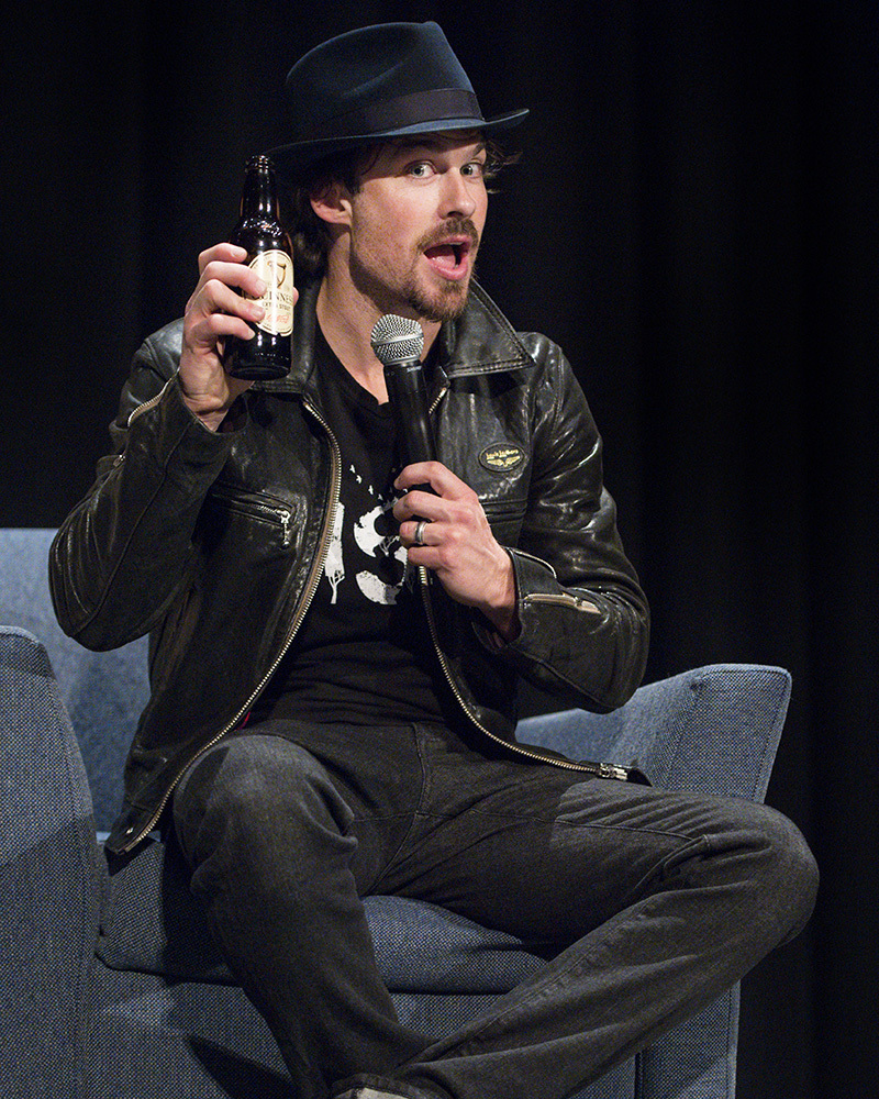 Ian Somerhalder participates in a Q&A during Wizard World Comic Con at Ernest N. Morial Convention Center in New Orleans on Jan. 6, 2018.