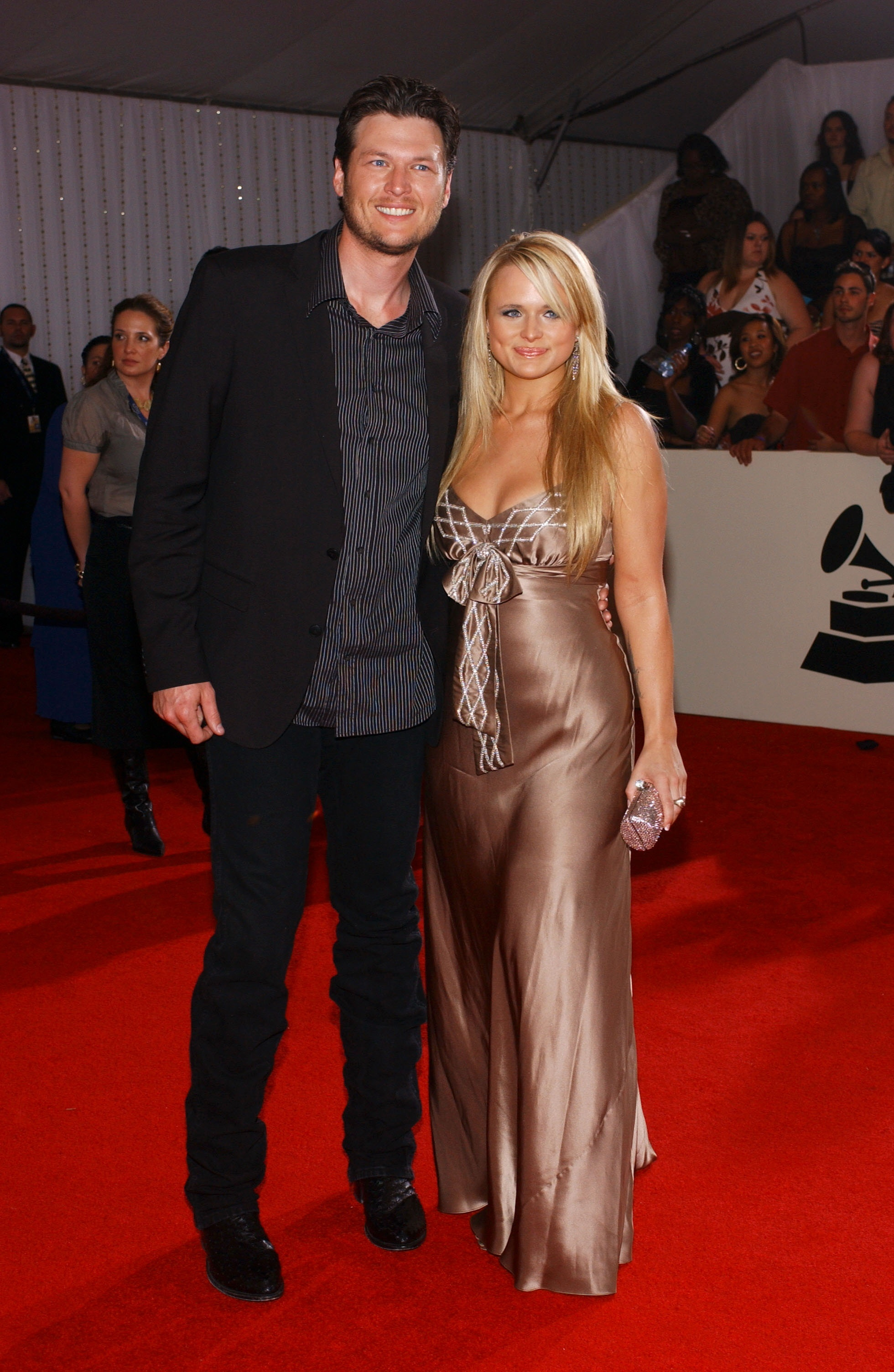 Blake Shelton and Miranda Lambert attend the 50th Annual Grammy Awards at Staples Center in Los Angeles on Feb. 10, 2008.
