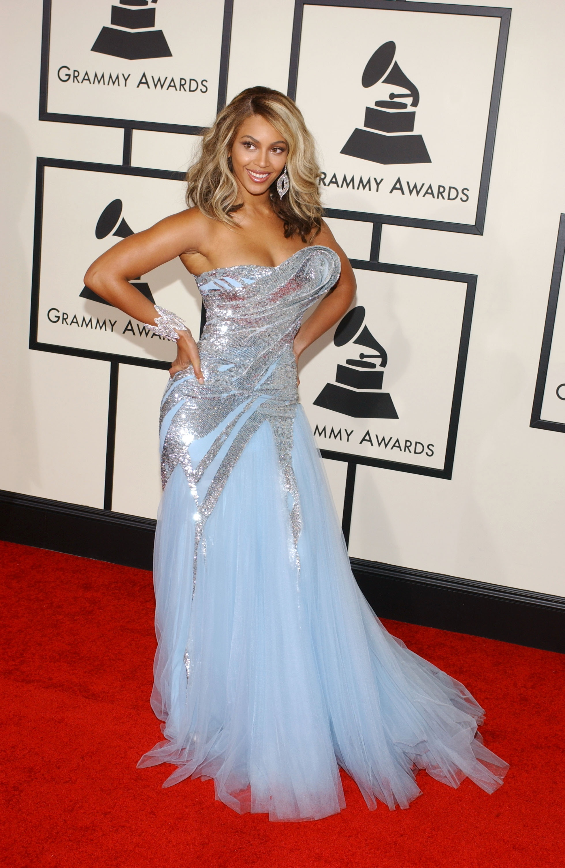 Beyonce Knowles attends the 50th Annual Grammy Awards at Staples Center in Los Angeles on Feb. 10, 2008.