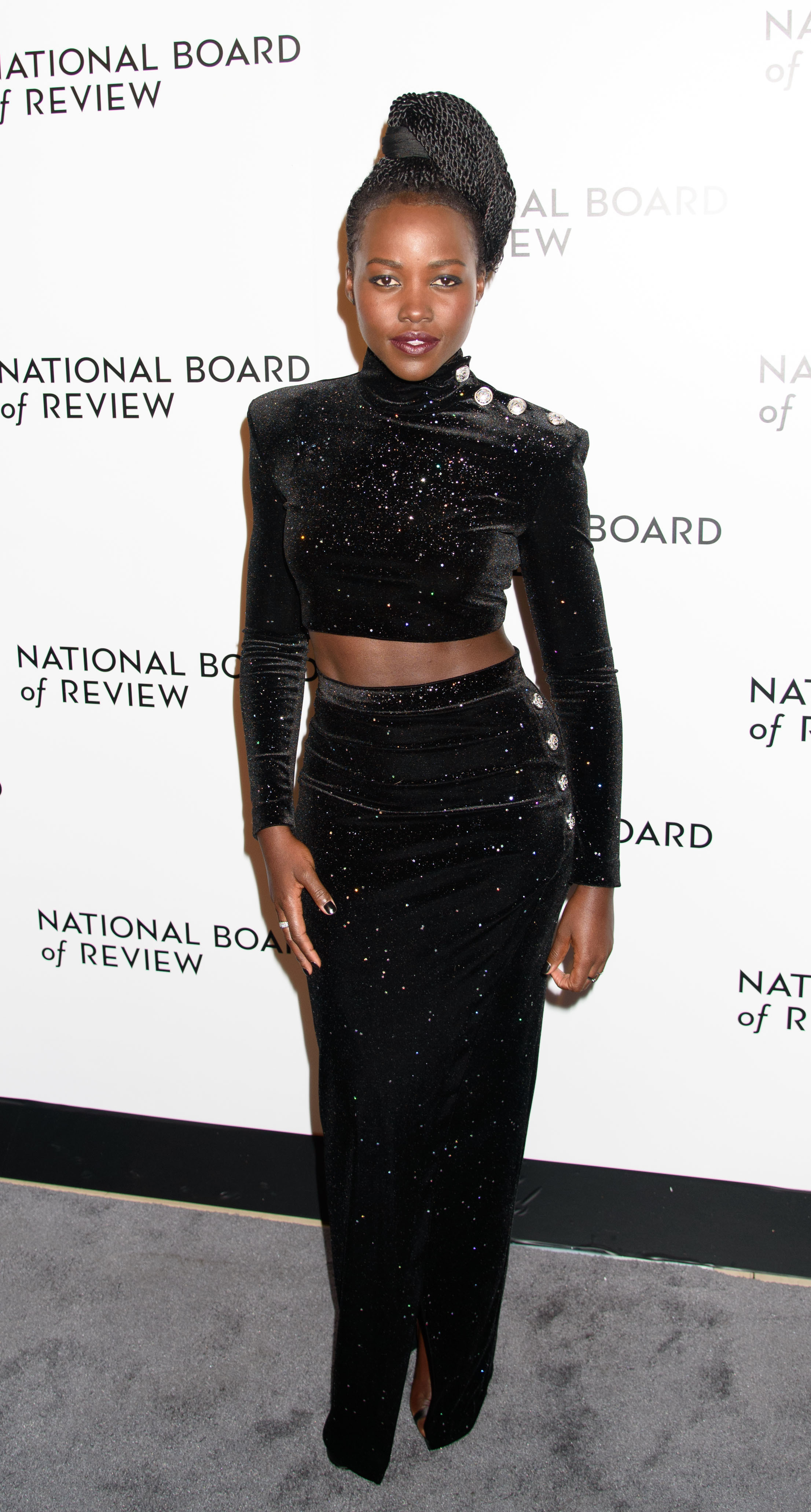 Lupita Nyong'o attends the National Board of Review Awards in New York City on Jan. 10, 2018.