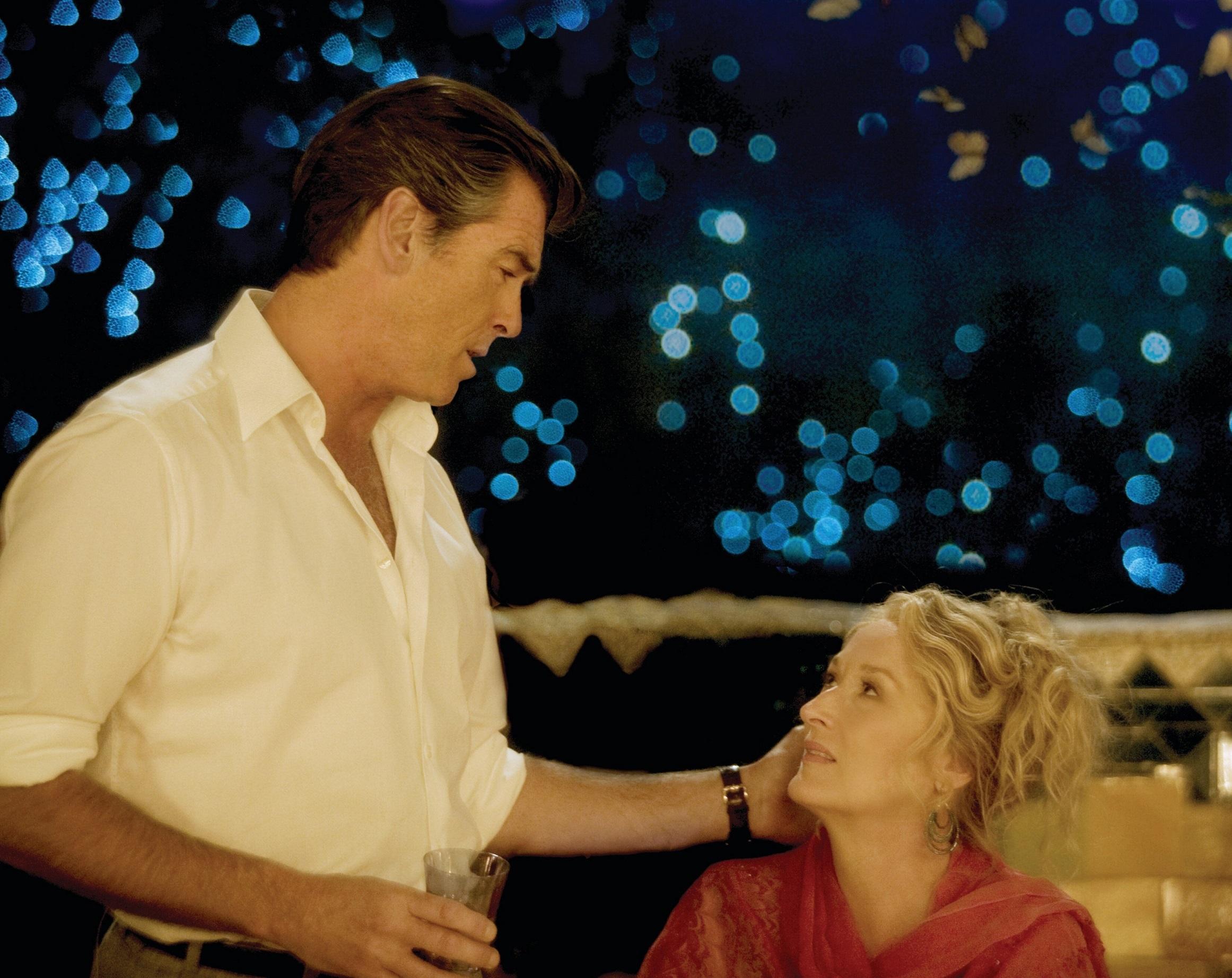 "Pierce Brosnan and Meryl Streep star in ""Mamma Mia!"" in 2008."