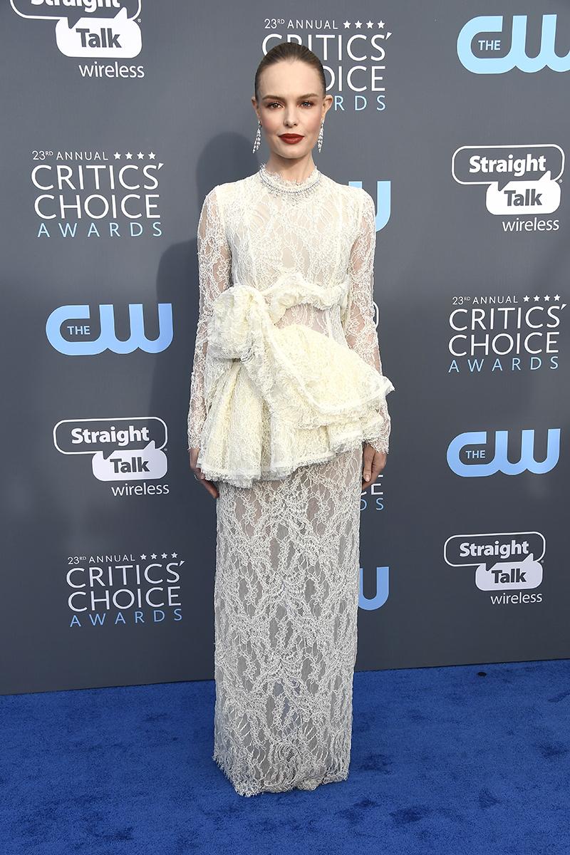 Kate Bosworth attends The 23rd Annual Critics' Choice Awards at Barker Hangar in Santa Monica, California, on Jan. 11, 2018.
