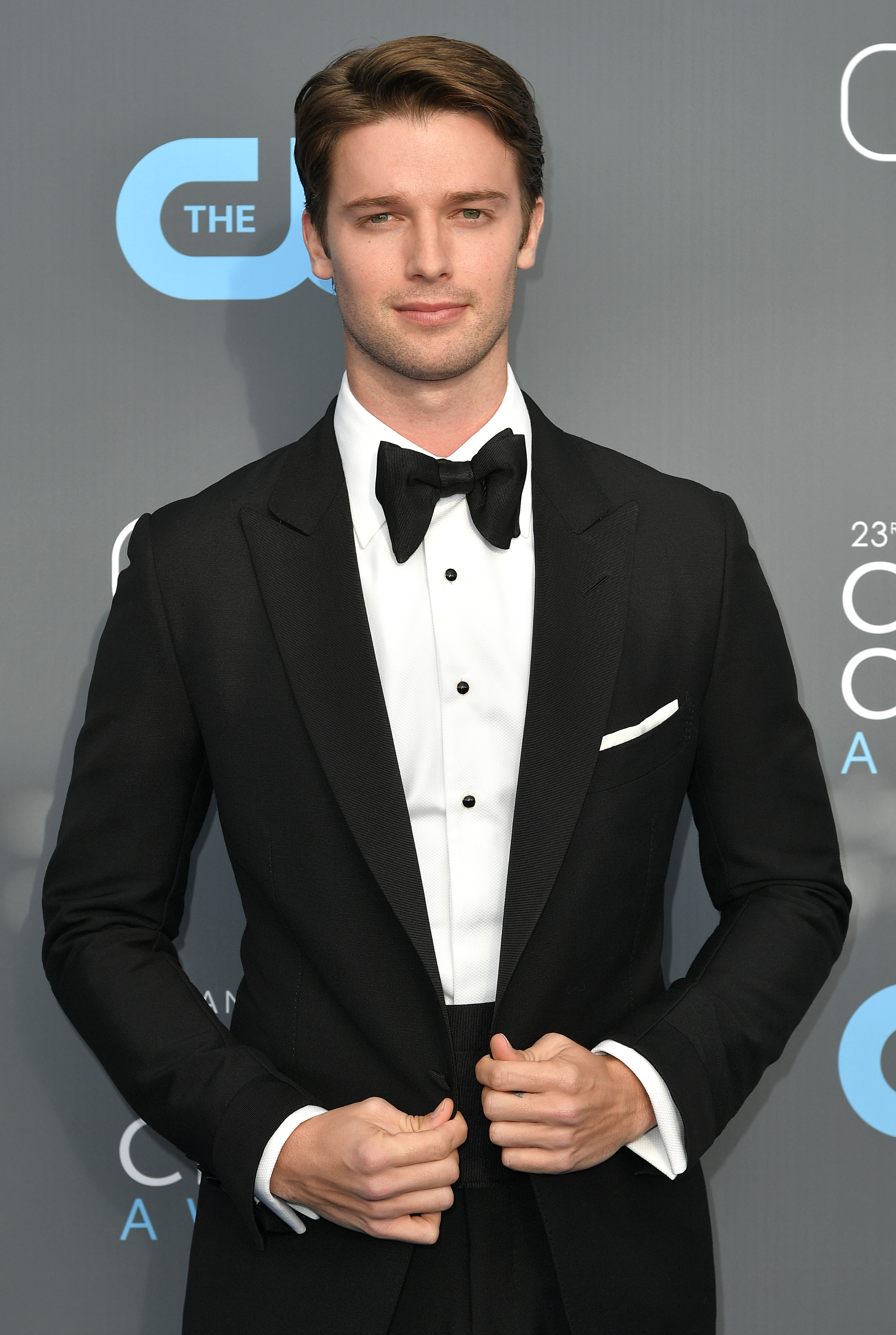Patrick Schwarzenegger attends The 23rd Annual Critics' Choice Awards at Barker Hangar in Santa Monica, California, on Jan. 11, 2018.
