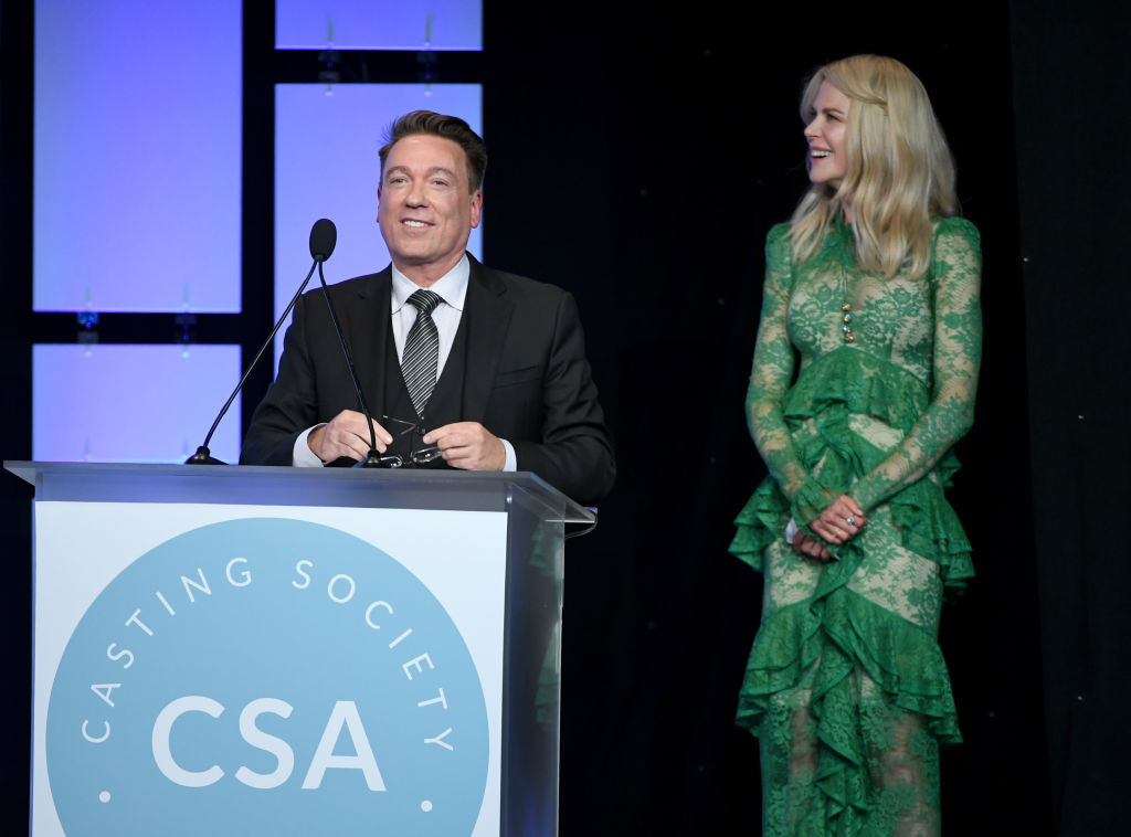 Kevin Huvane and Nicole Kidman attend the Casting Society Of America's 33rd Annual Artios Awards in Los Angeles at The Beverly Hilton Hotel on Jan. 18, 2018.
