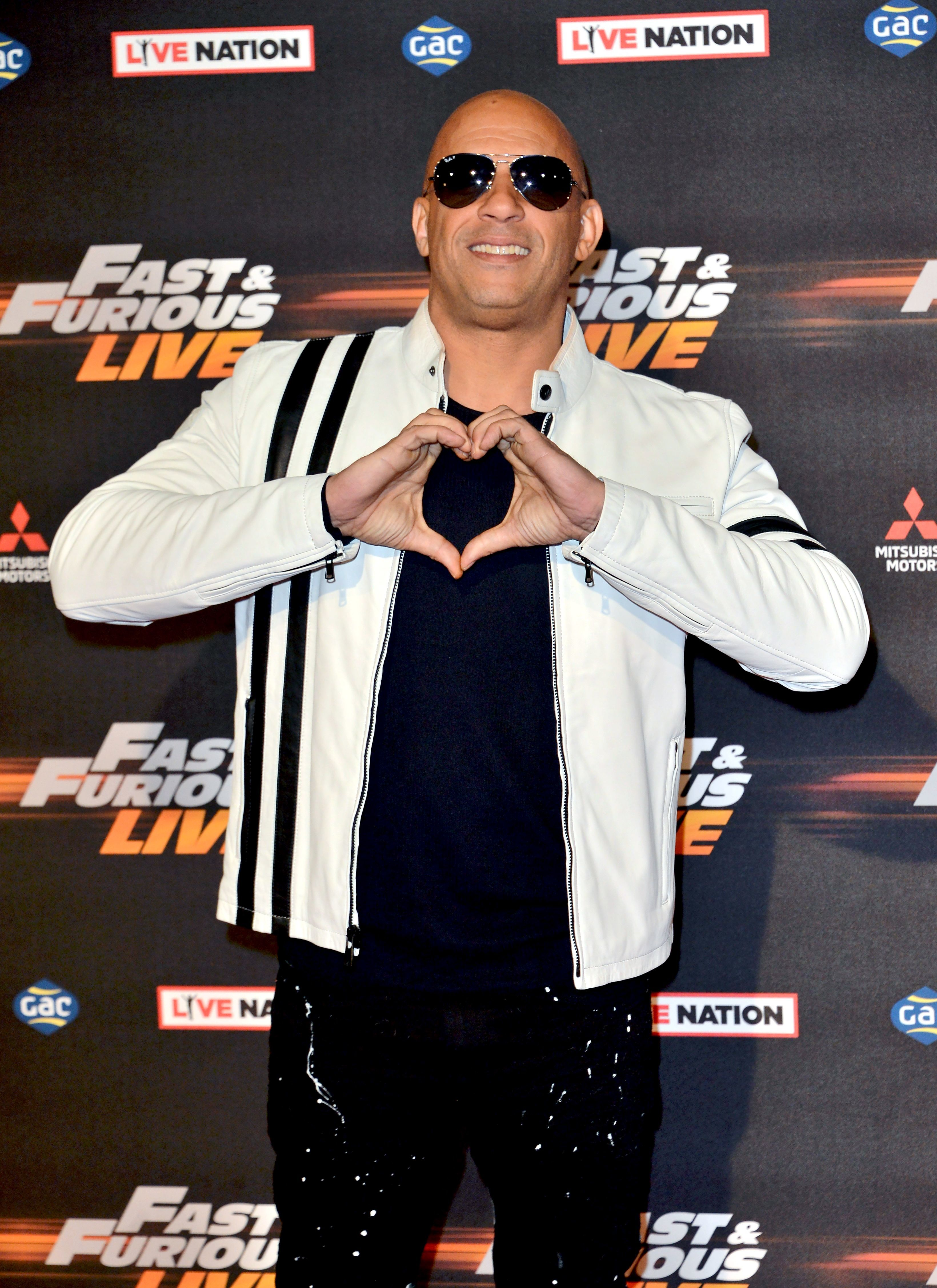 """Vin Diesel attends the """"Fast and Furious Live"""" at the O2 Arena in London on Jan. 19, 2018."""