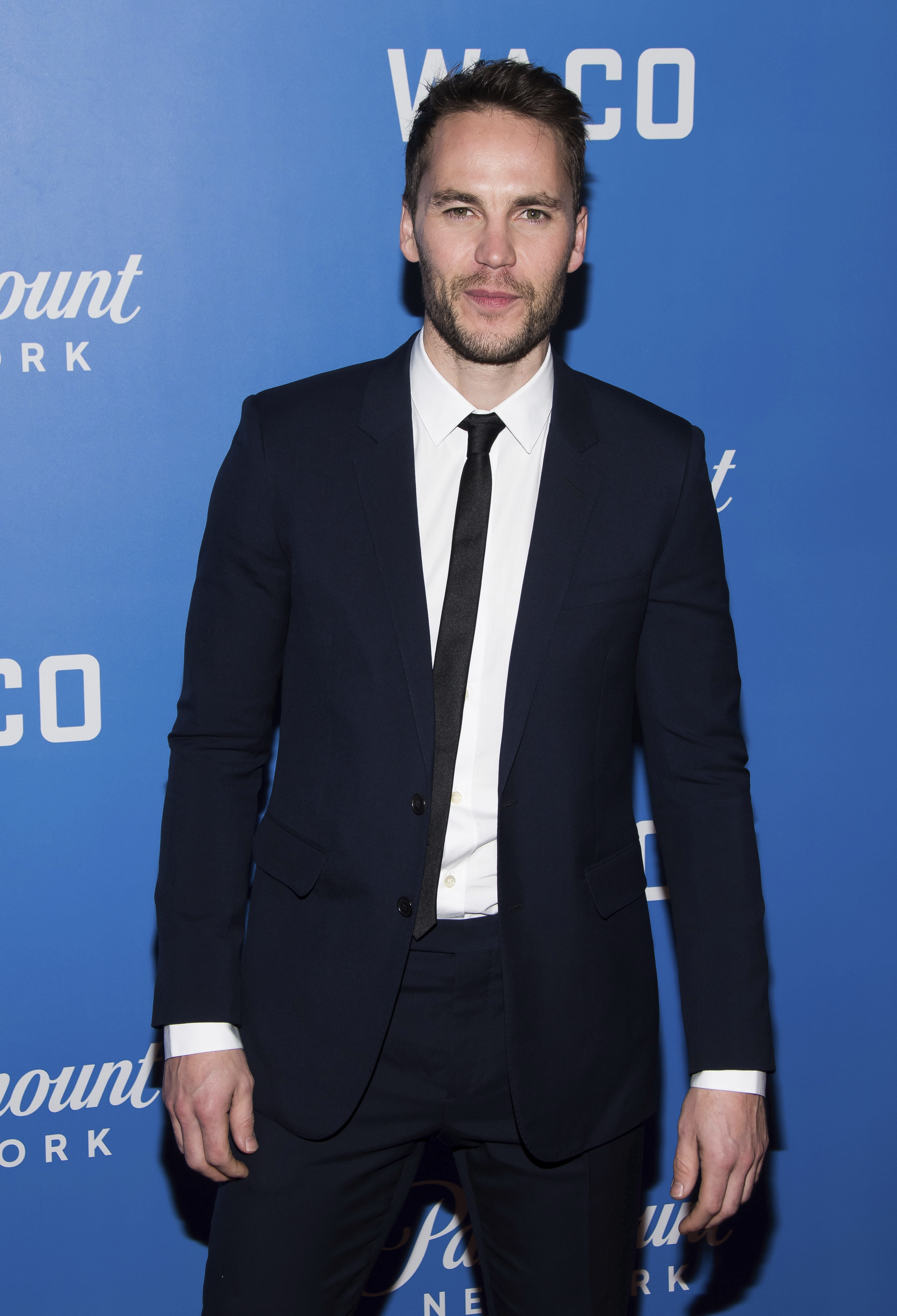 """Taylor Kitsch attends the world premiere of """"Waco"""" at Jazz at Lincoln Center in New York City on Jan. 22, 2018."""
