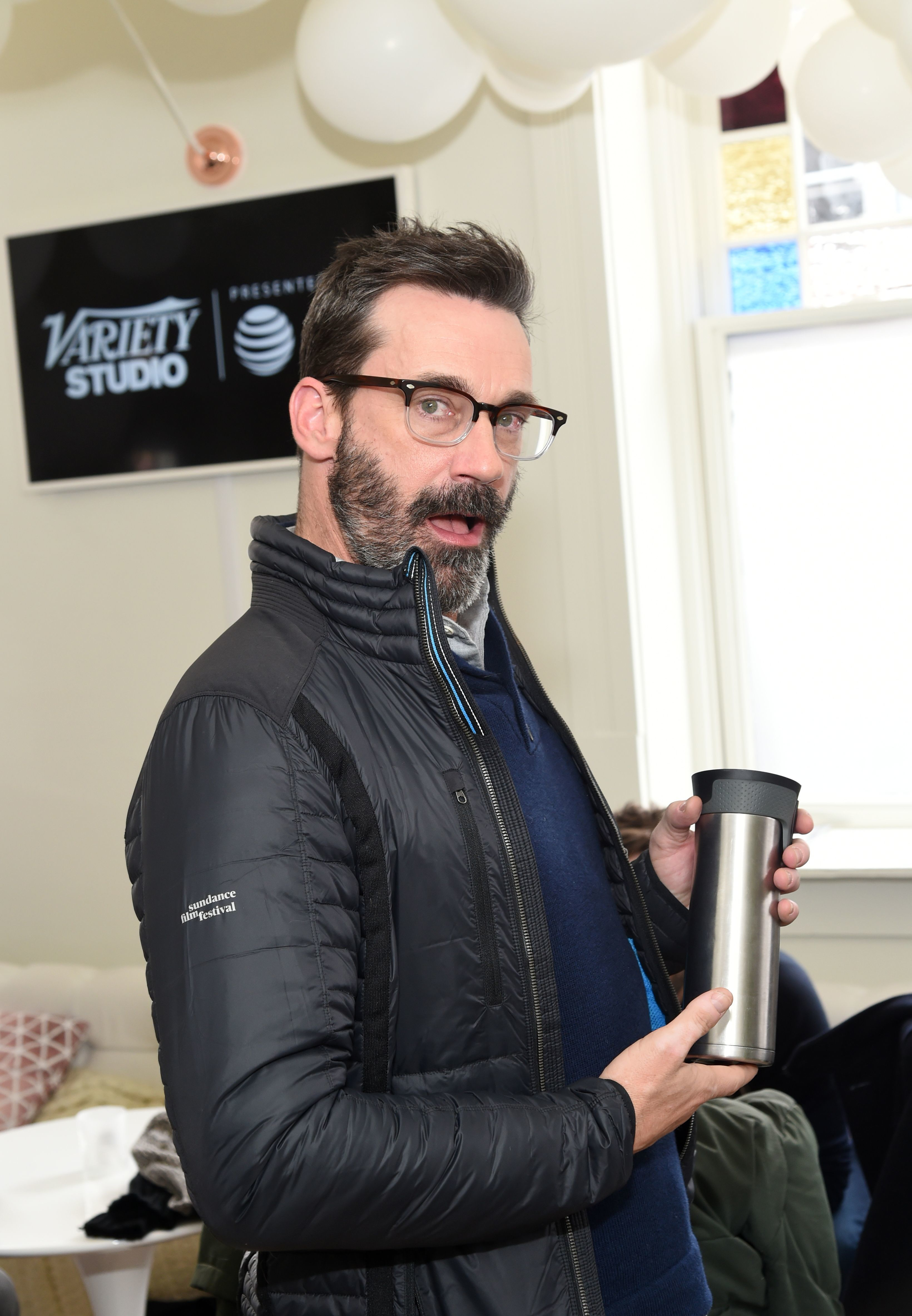 Jon Hamm attends the Variety Studio at Sundance Presented by AT&T in Park City, Utah, on Jan. 22, 2018.