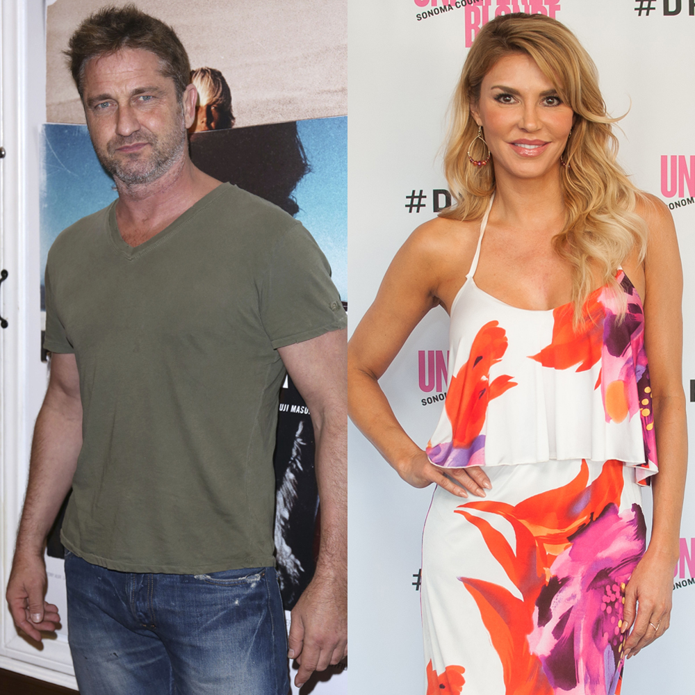 """Gerard Butler attends the premiere of """"Bunker77"""" in Santa Monica on Nov. 1, 2017. Brandi Glanville launches her Unfiltered Blonde wine label for the Rippey Wine Company at the Bluewater Grill in Redondo Beach, California, on Aug. 15, 2015."""