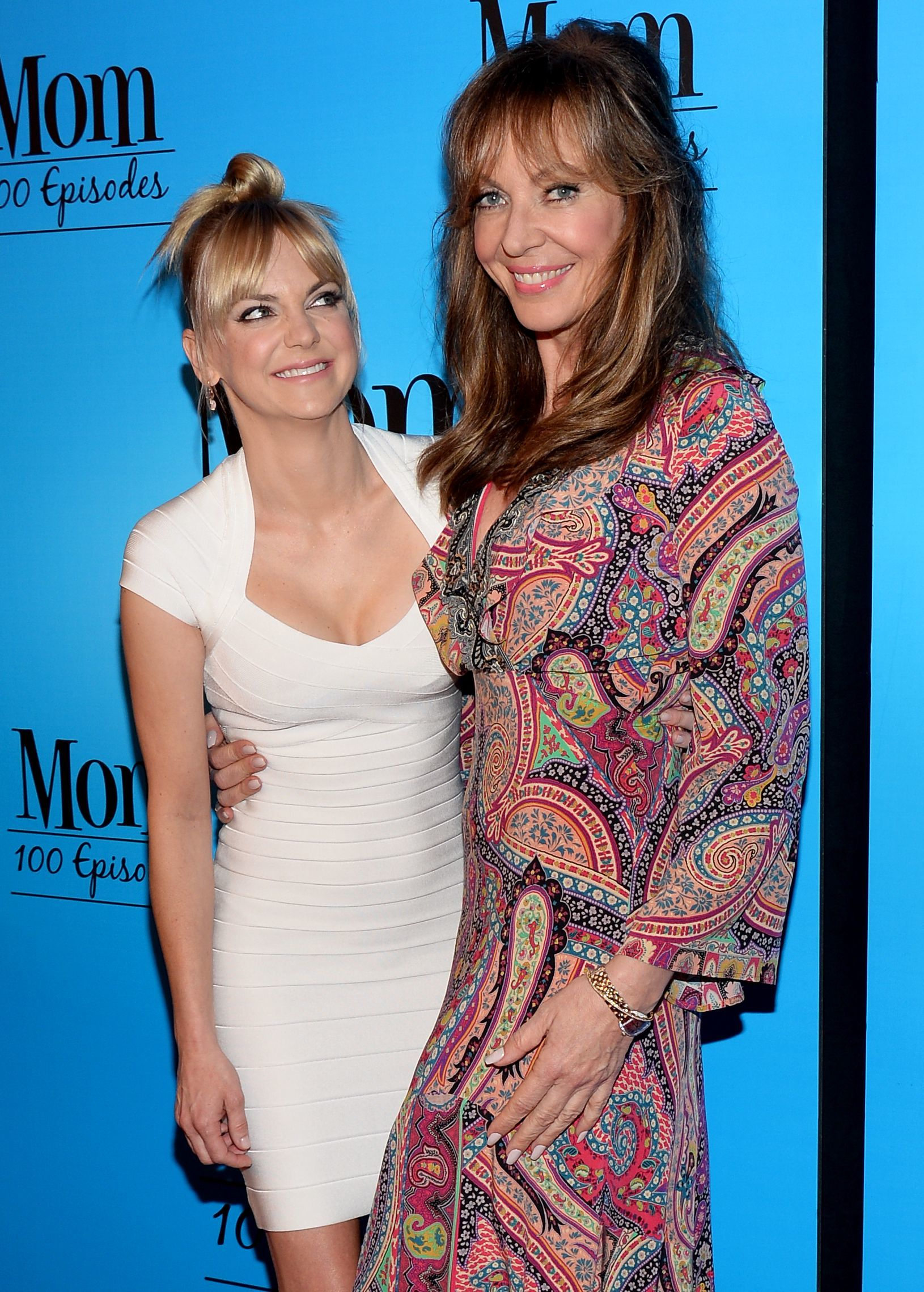 """Anna Faris and Allison Janney attend the """"Mom"""" 100th Episode Celebration in Los Angeles on Jan. 27, 2018."""