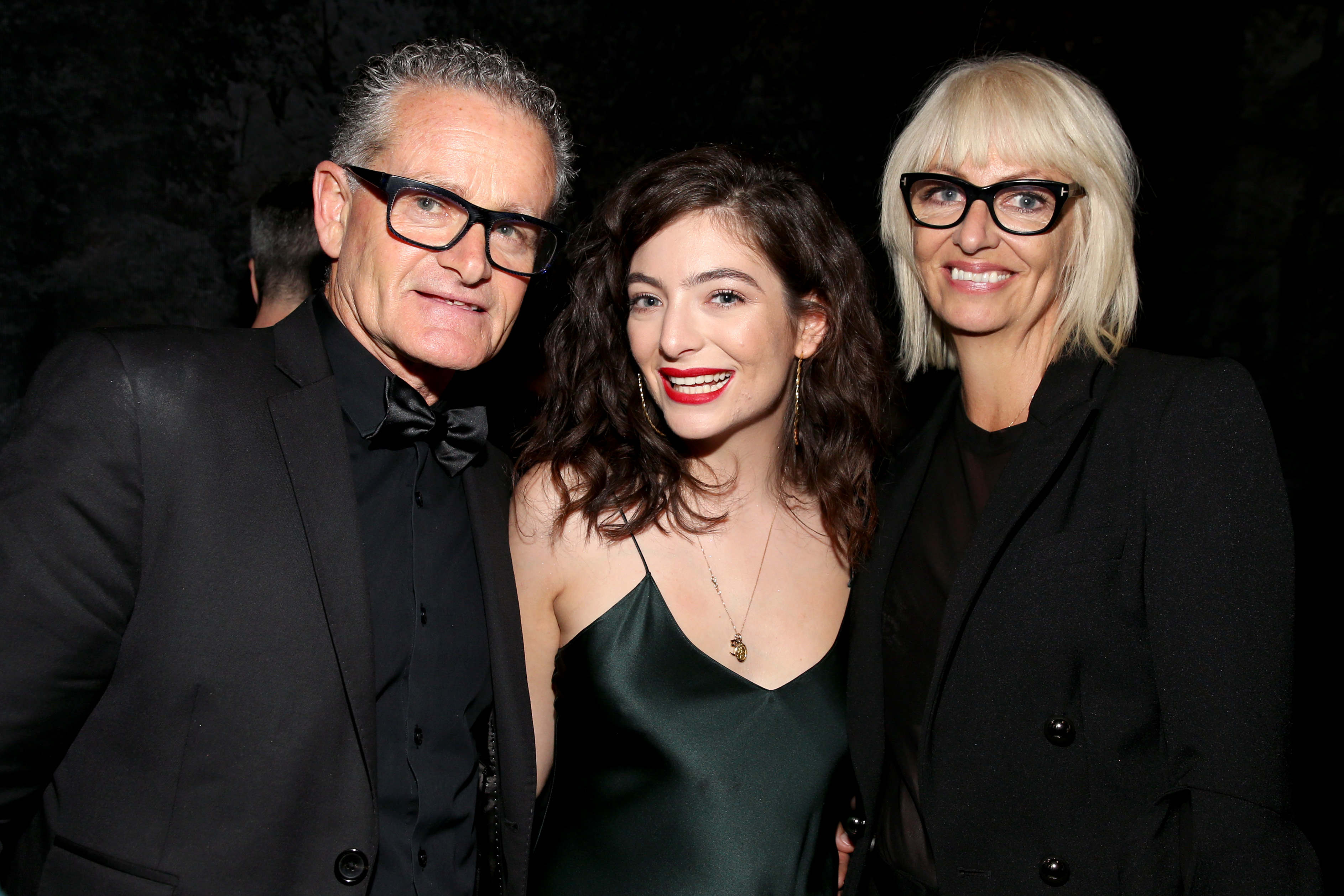 Lorde and her parents, Vic O'Conner and Sonja Yelich, attend Universal Music Group's Grammys afterparty in New York City on Jan. 28, 2018.
