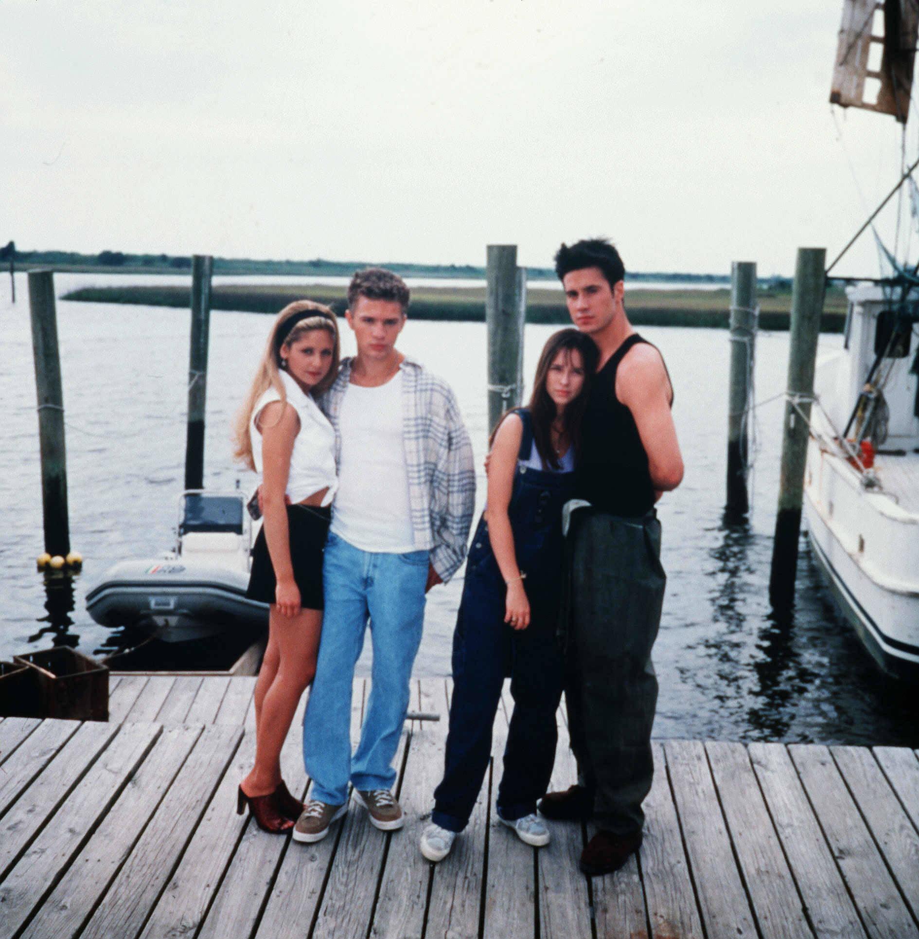 "Sarah Michelle Gellar, Ryan Phillippe, Jennifer Love Hewitt and Freddie Prinze Jr. star in 1997's ""I Know What You Did Last Summer."""