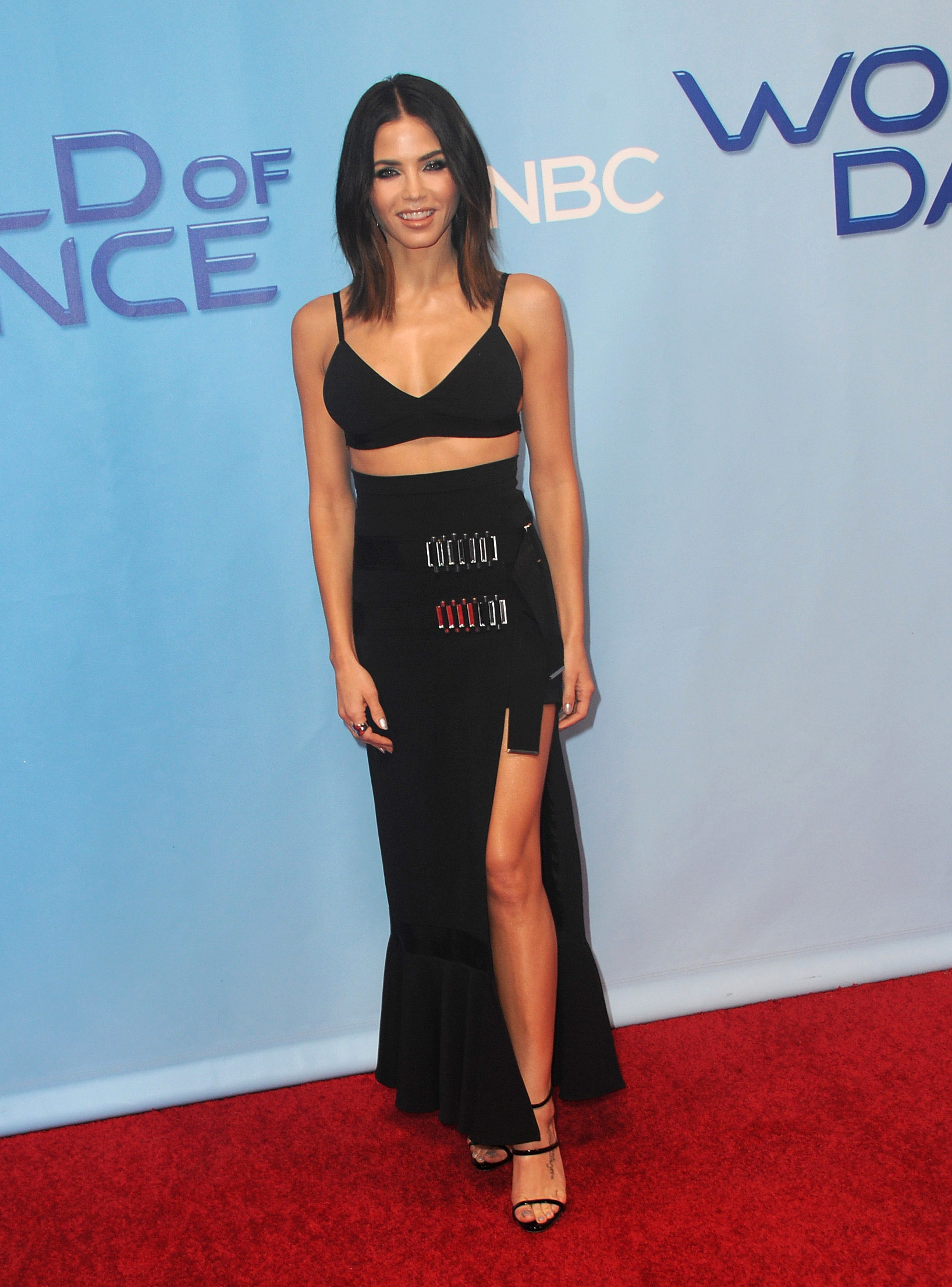 "Jenna Dewan Tatum attends the NBC Universal ""World of Dance"" Red Carpet event in Los Angeles on January 30, 2018."