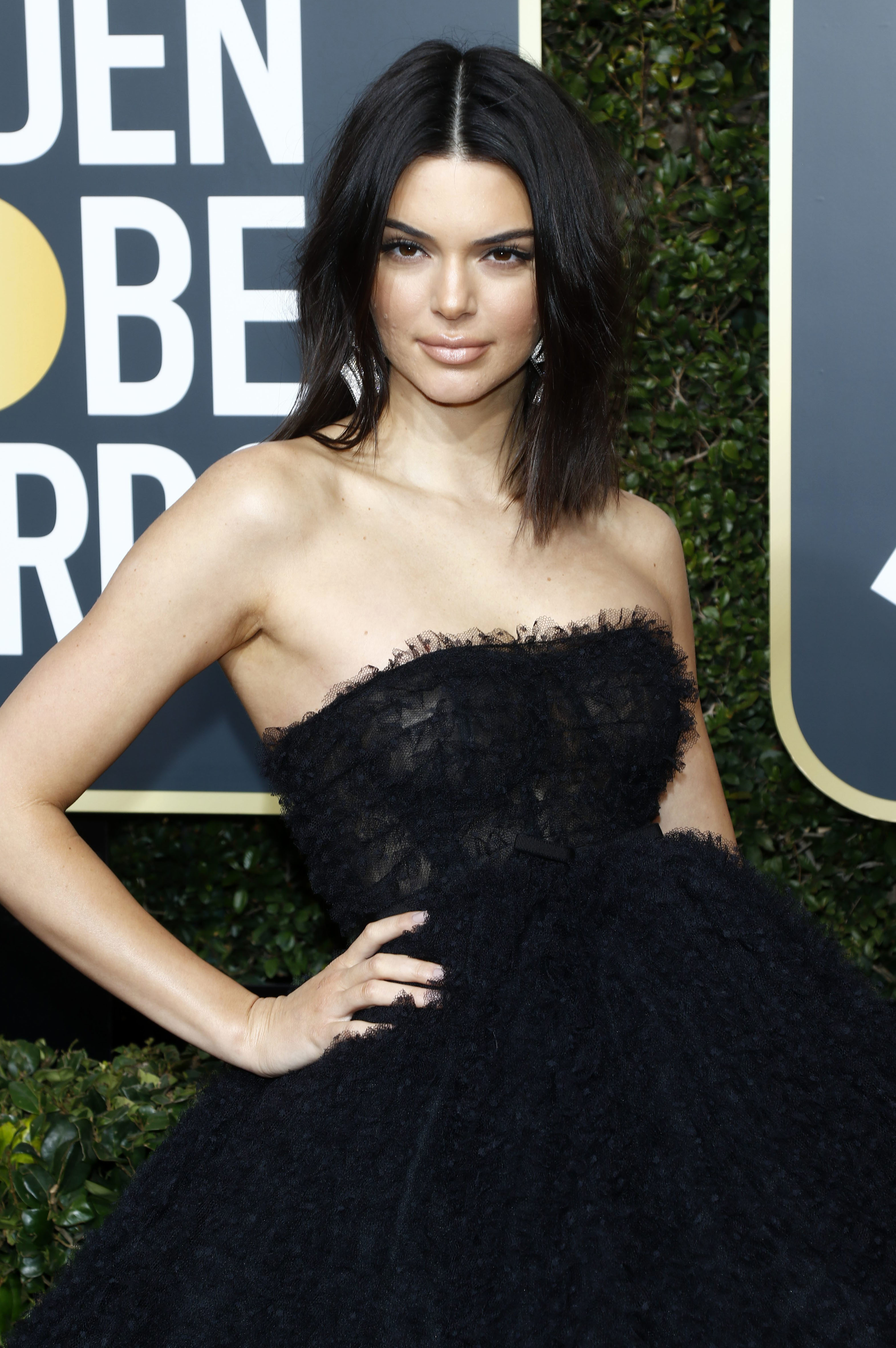 Kendall Jenner attends the 75th Golden Globe Awards in Los Angeles on Feb. 1, 2018.