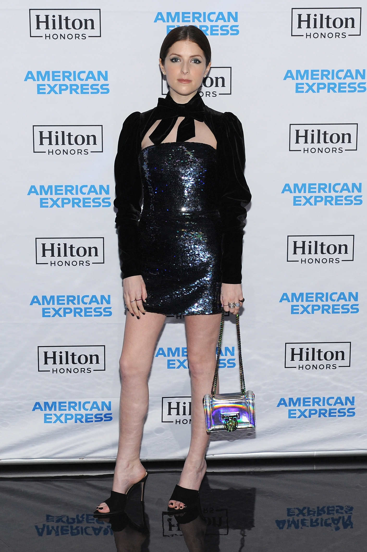 Anna Kendrick attends the Hilton and American Express celebration for Card Members to kick off the Credit Card portfolio for Hilton Honors members at the Conrad New York in New York City on Jan. 30, 2018.