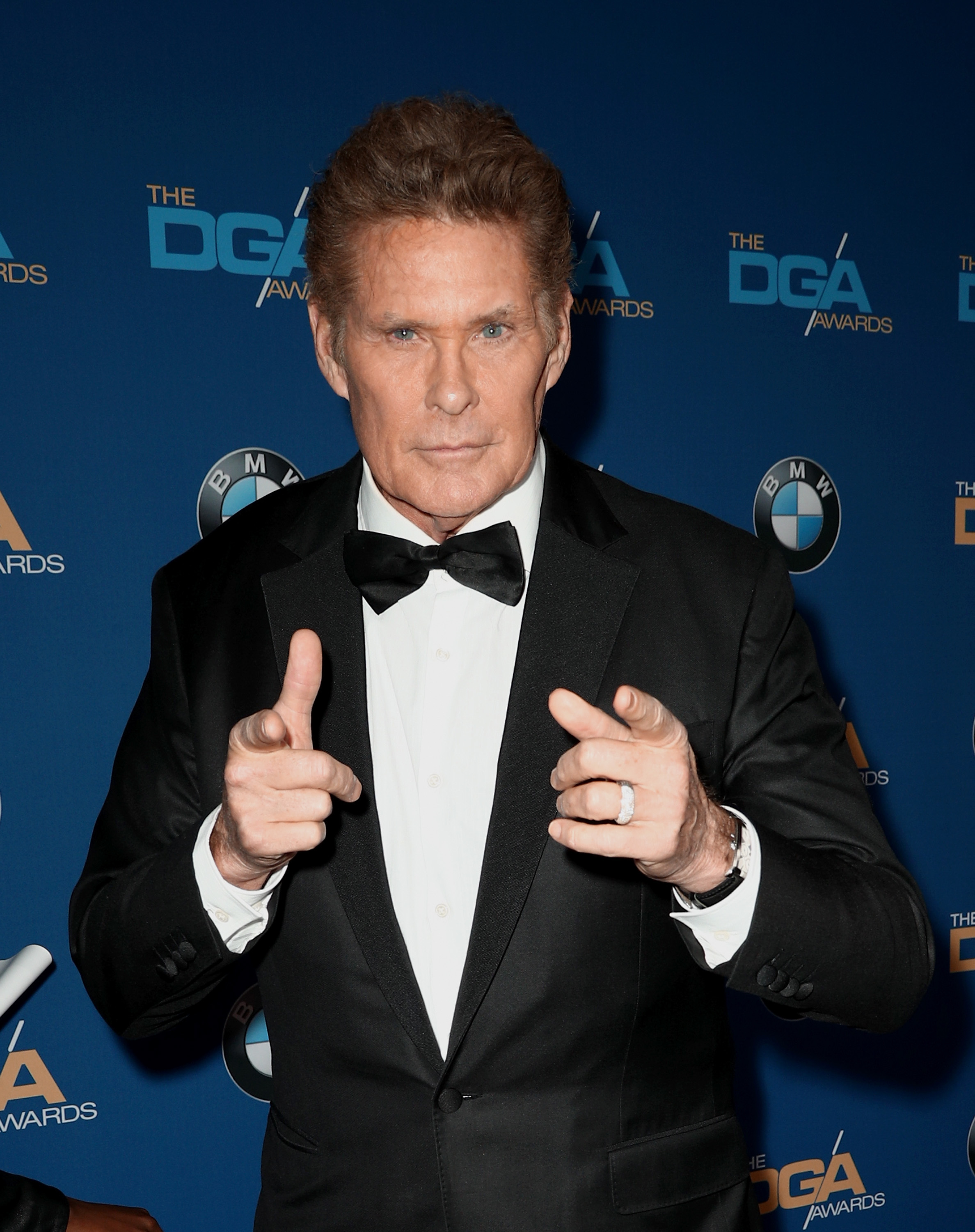 David Hasselhoff attends the 70th Annual Directors Guild Of America Awards at The Beverly Hilton Hotel in Beverly Hills, California, on Feb. 3, 2018.
