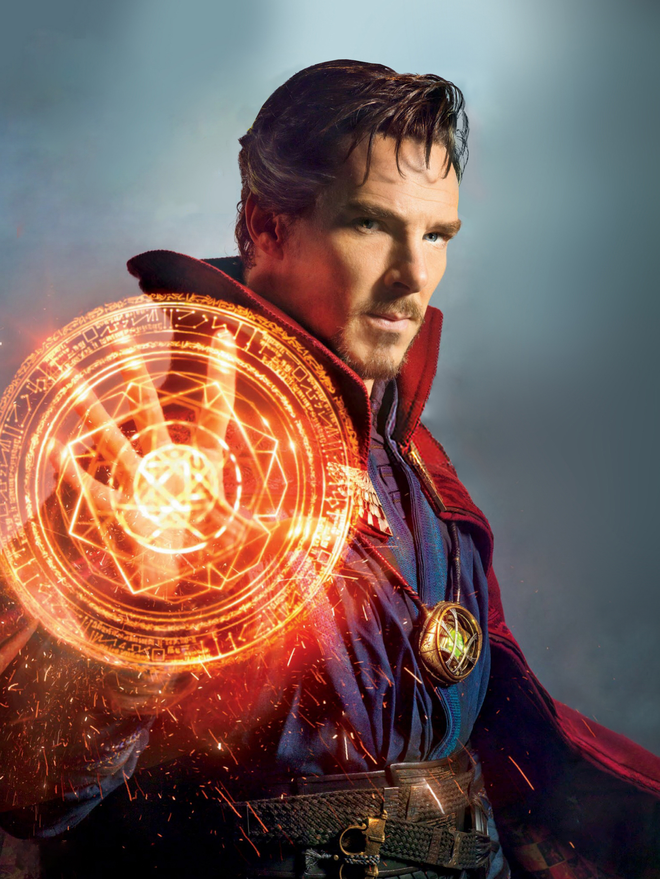 """Benedict Cumberbatch (as Dr. Stephen Strange) is pictured on the set of """"Doctor Strange"""" in 2016."""