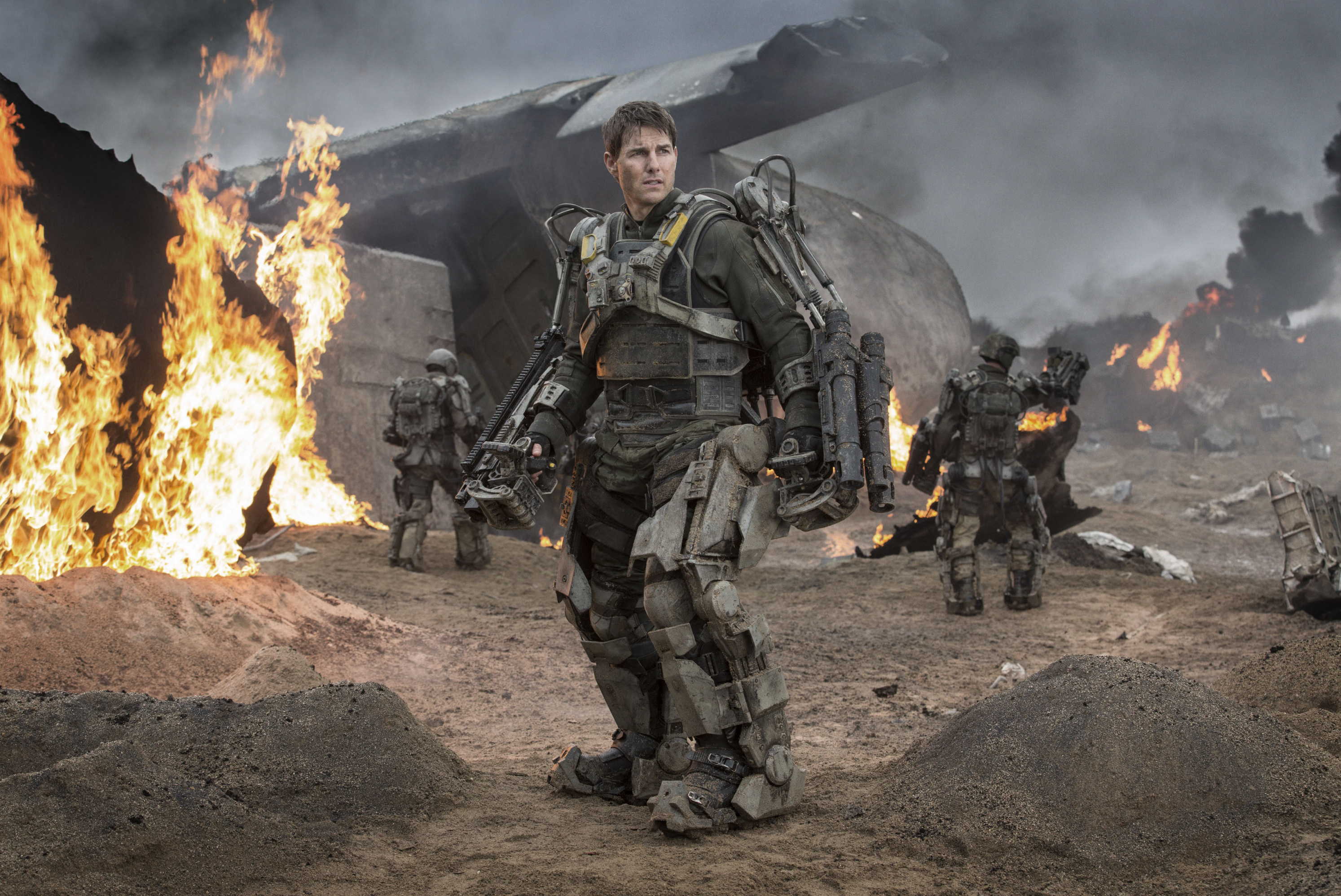 """Tom Cruise is shown on the set of """"Edge of Tomorrow"""" in 2014."""