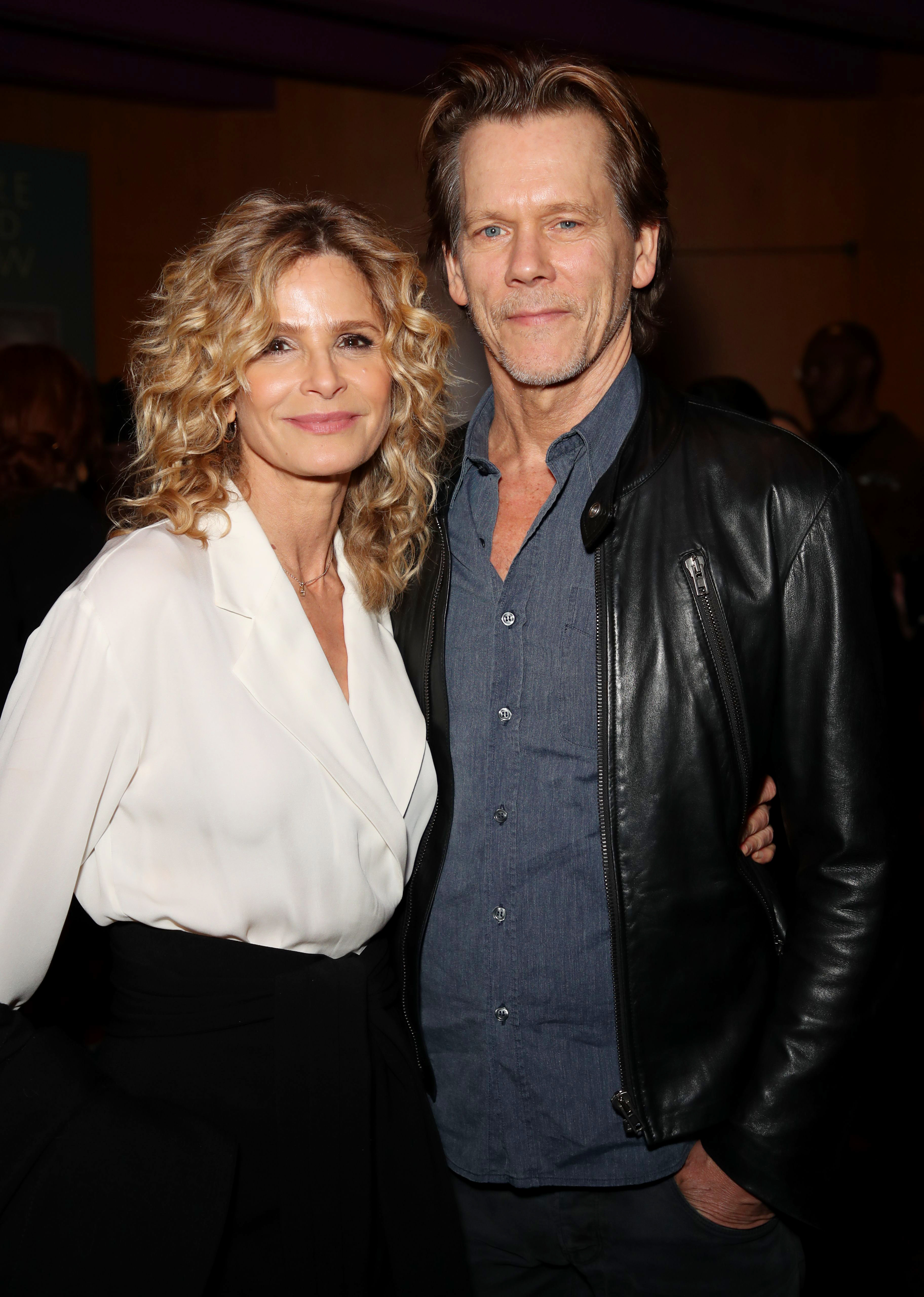 """Kyra Sedgwick and Kevin Bacon attend the """"Here and Now"""" TV show premiere in Los Angeles on Feb. 5, 2018."""