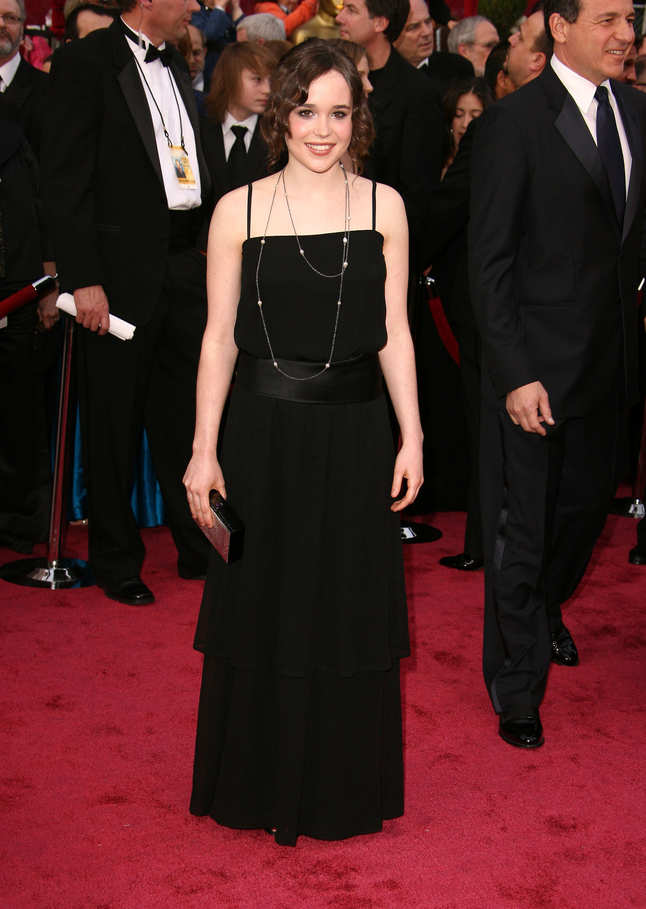 Ellen Page attends the 80th Annual Academy Awards at the Kodak Theatre in Los Angeles, California on Feb. 24, 2008.
