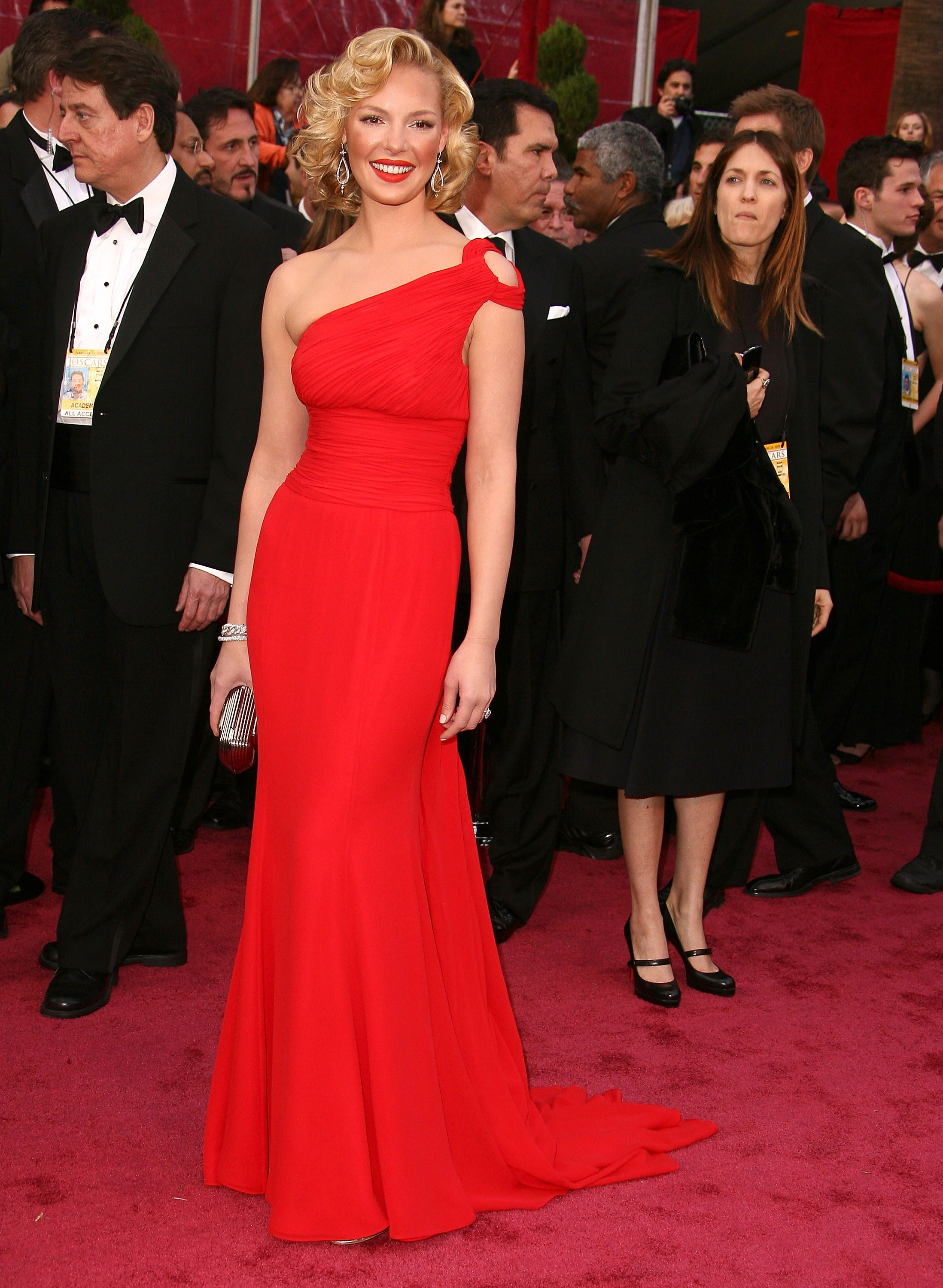 Katherine Heigl attends the 80th Annual Academy Awards at the Kodak Theatre in Los Angeles, California on Feb. 24, 2008.