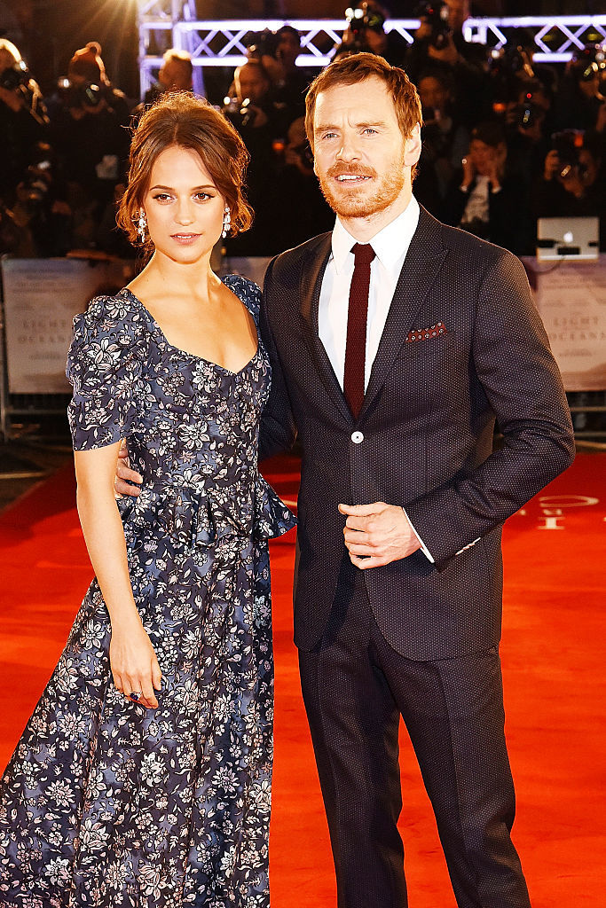"Michael Fassbender and Alicia Vikander attend the UK Premiere of ""The Light Between Oceans"" at The Curzon Mayfair in London on Oct. 19, 2016."