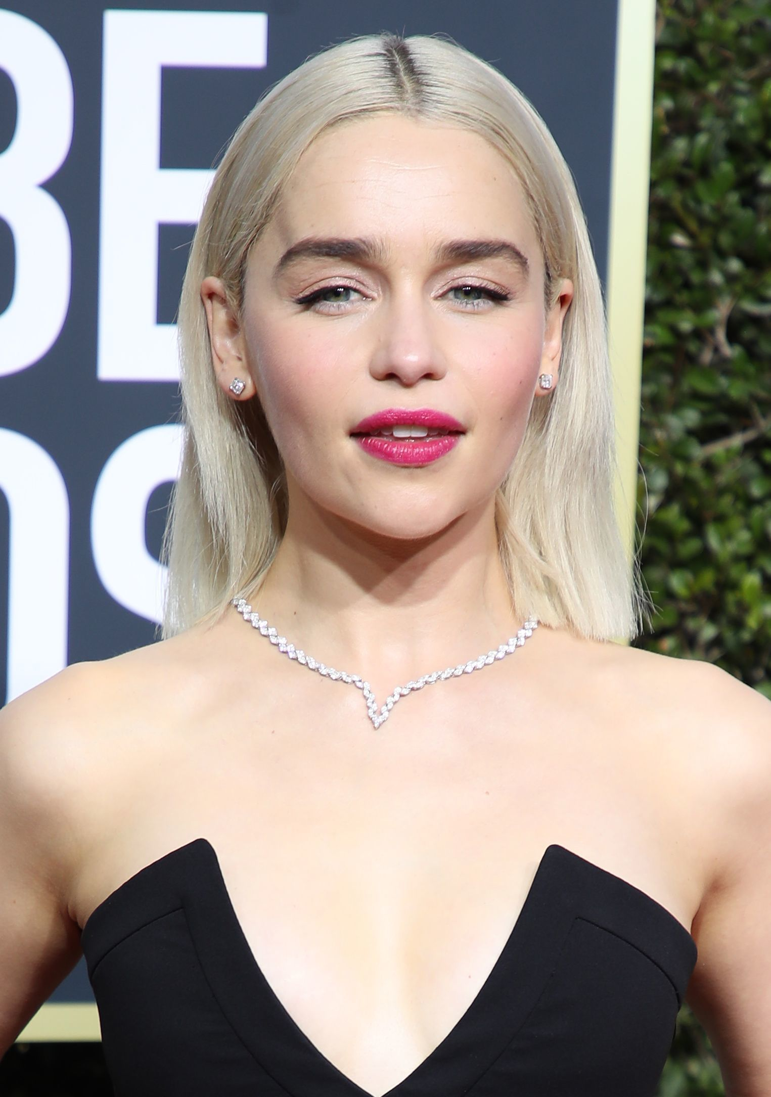 Emilia Clarke at the 75th Annual Golden Globe Awards in Los Angeles on Jan. 7, 2018.