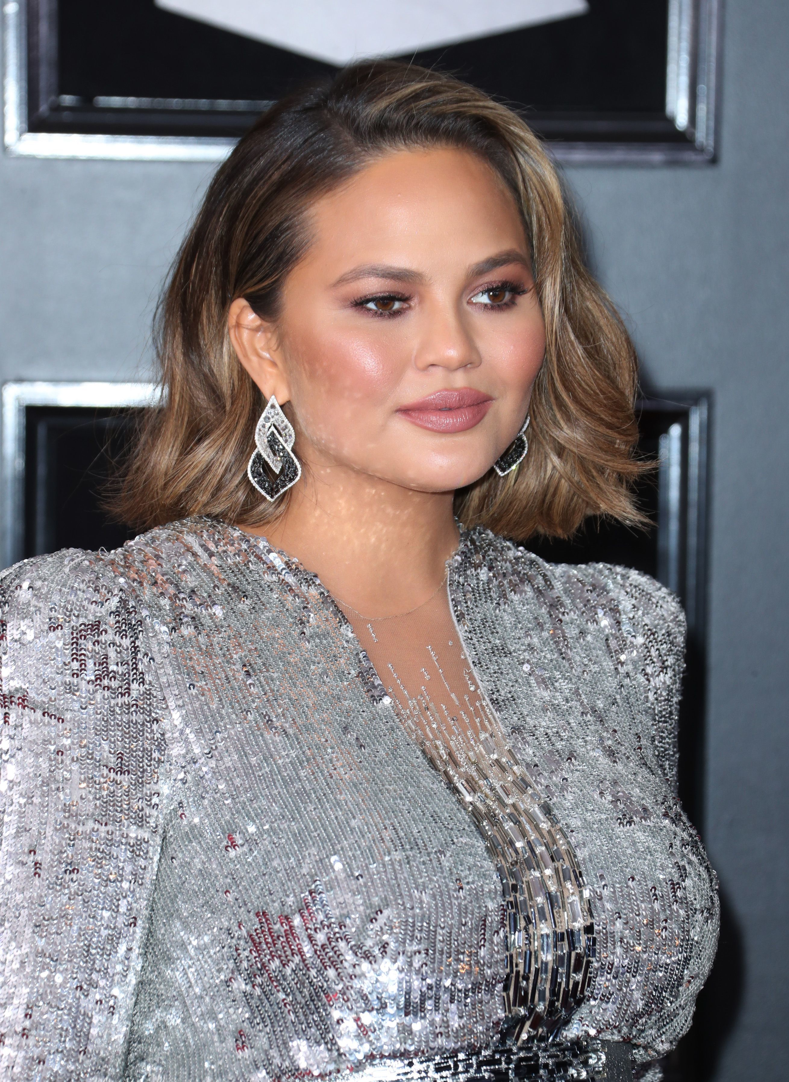 Chrissy Teigen at the 60th Annual Grammy Awards in New York on Jan. 28, 2018.