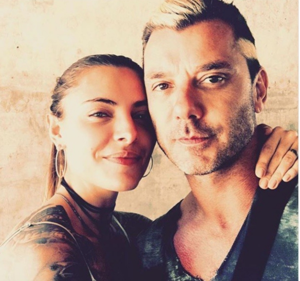 """""""My ❤️""""   Gavin Rossdale, who posted this selfie with  Sophia Thomalla on Feb. 8, 2018"""