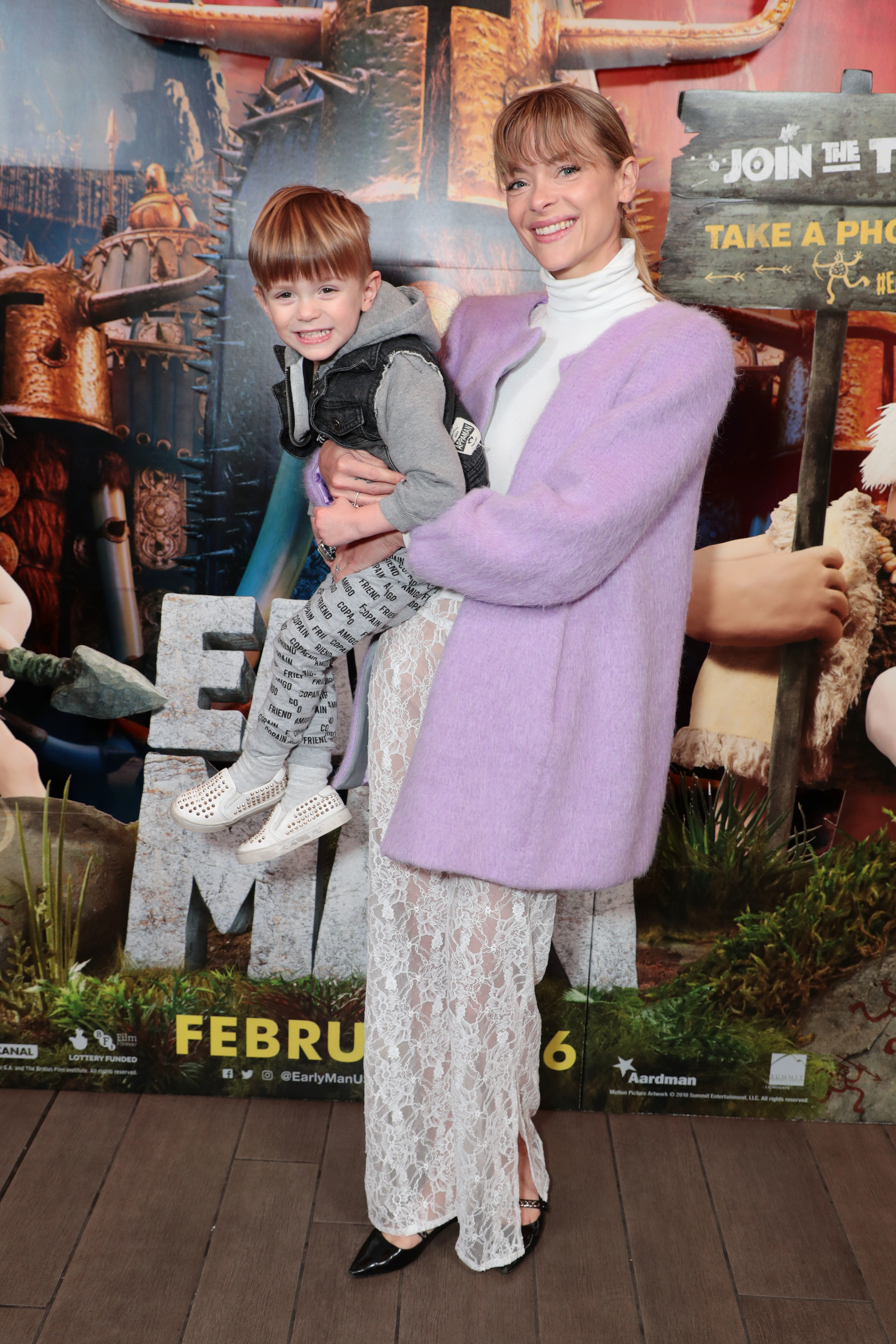 "Leo Thames Newman and Jaime King attend the Summit Entertainment's ""Early Man"" special screening in Los Angeles on Feb. 10, 2018."