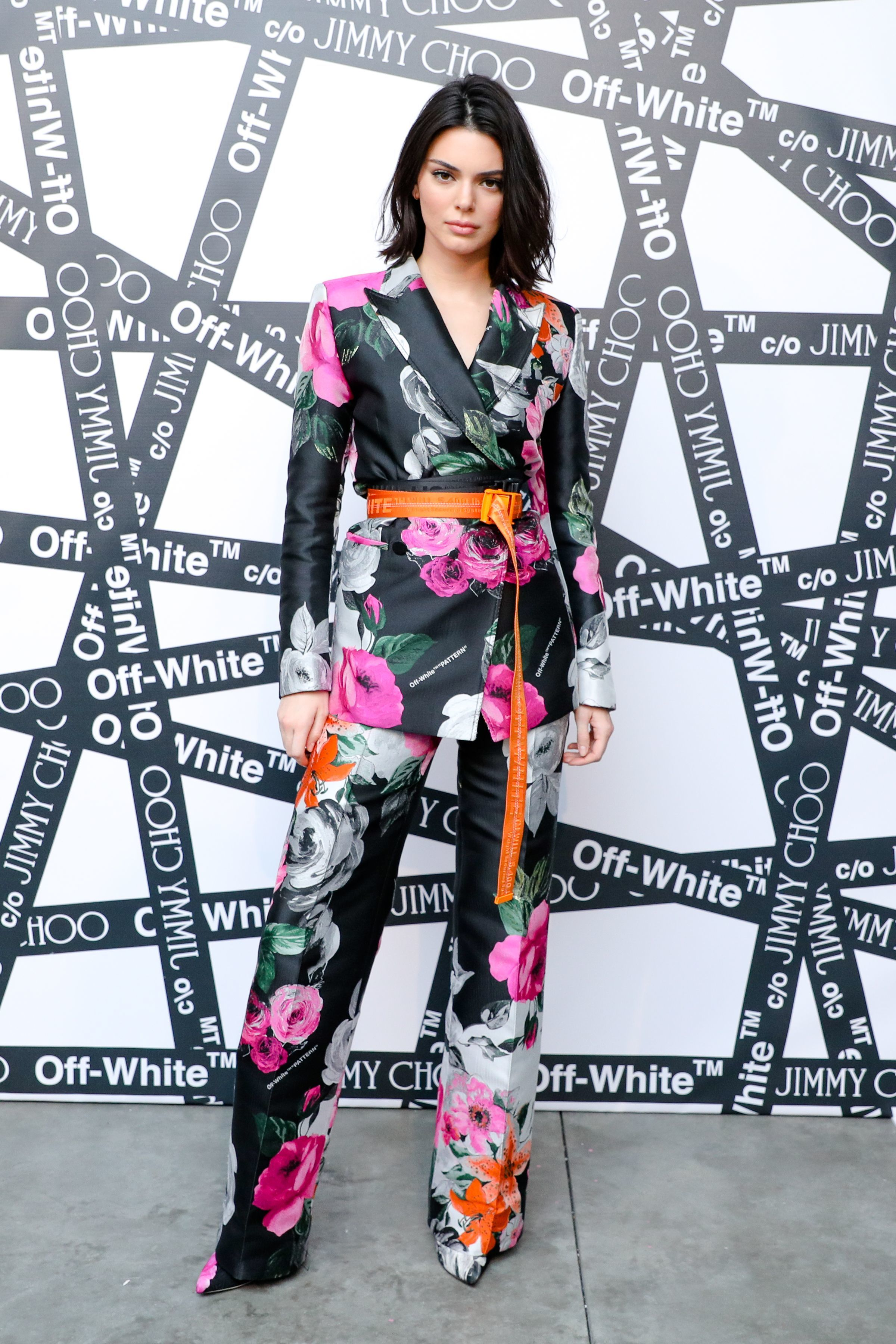 Kendall Jenner attends the Sandra Choi and Virgil Abloh dinner celebrating The Off White C/O Jimmy Choo Collection at New York Fashion Week on Feb. 11, 2018.
