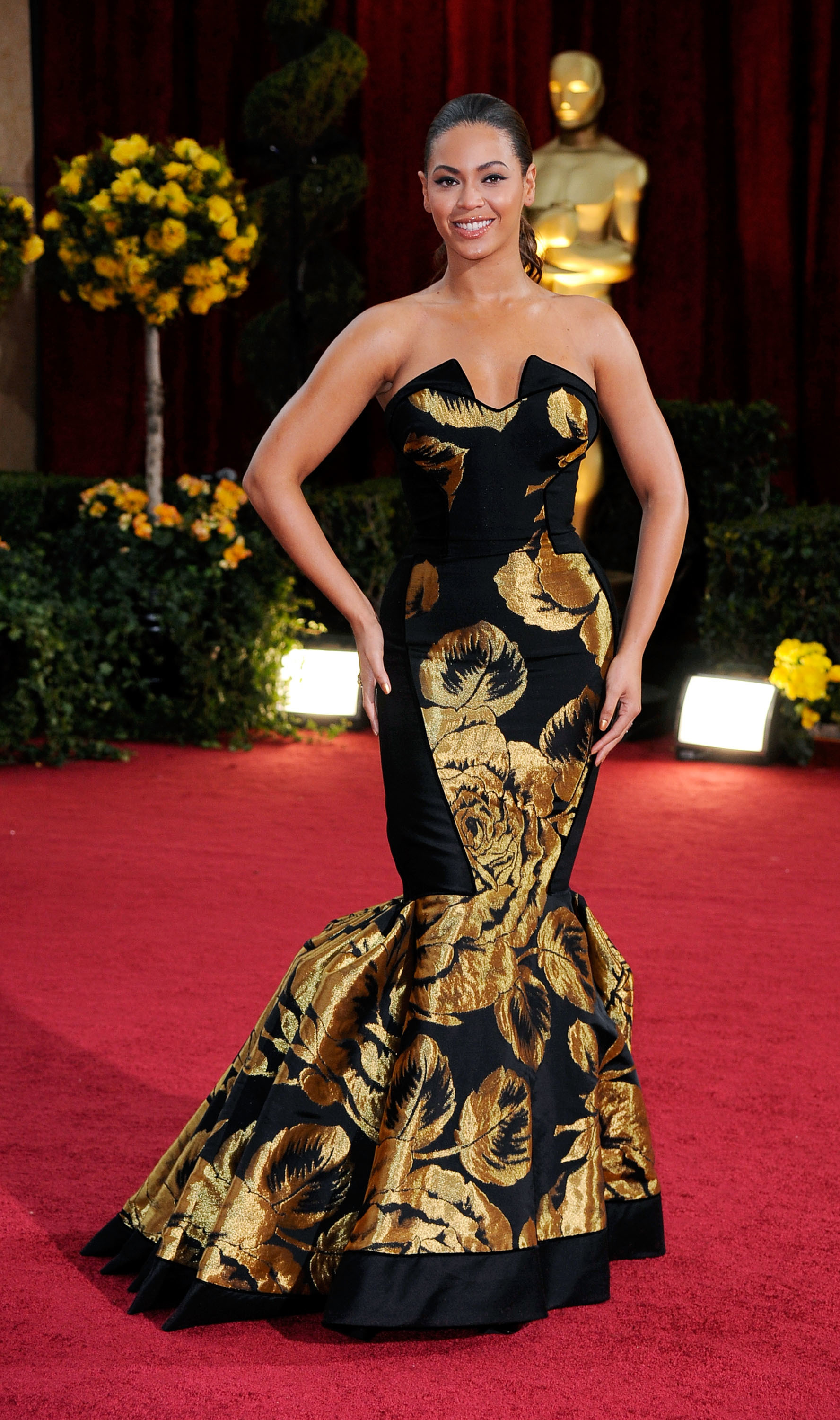 Beyonce Knowles arrives at the 81st Annual Academy Awards held at Kodak Theatre in Los Angeles on on Feb 22, 2009.