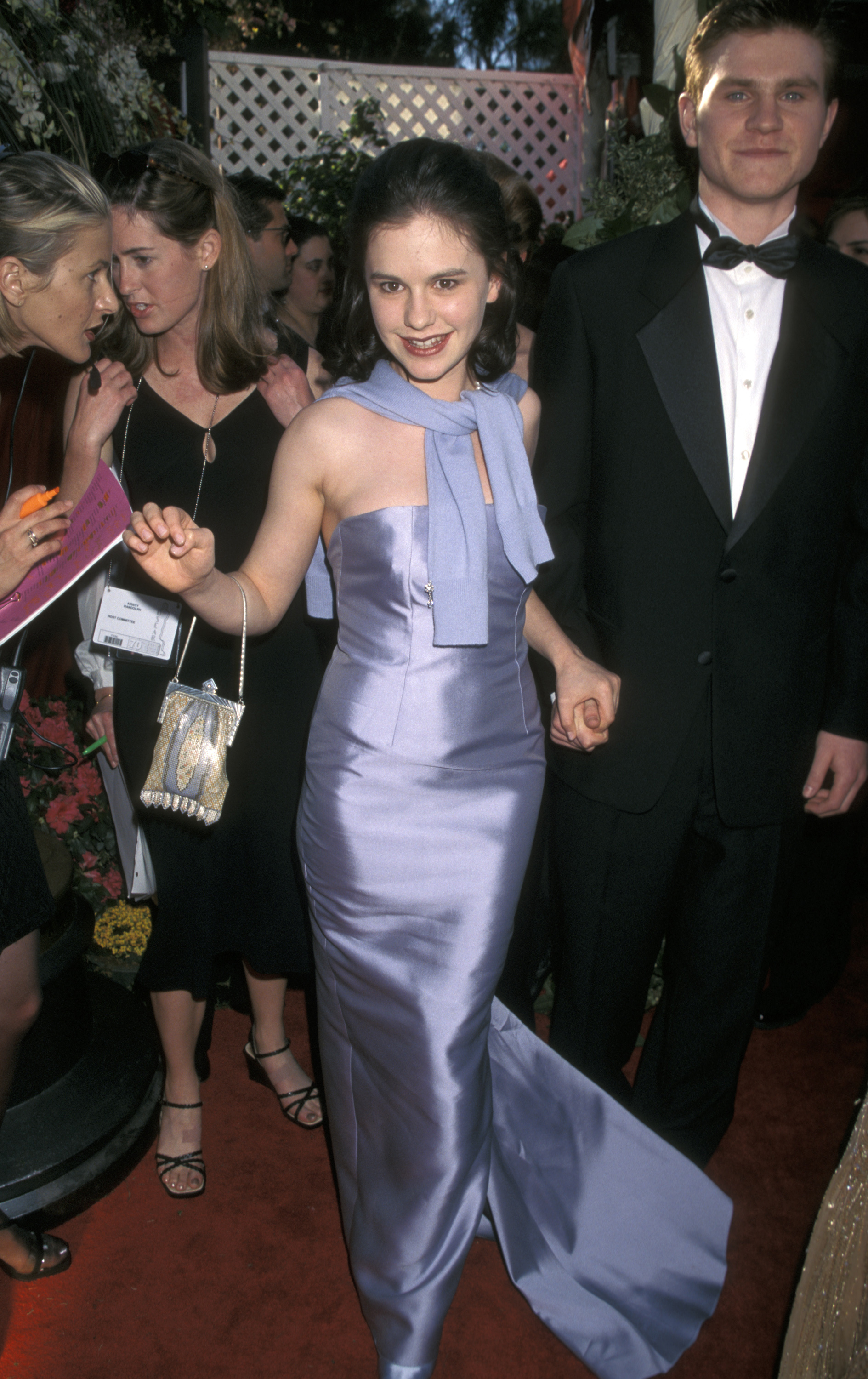 Anna Paquin and brother at the 70th annual Academy Awards in Los Angeles on March 23, 1998.