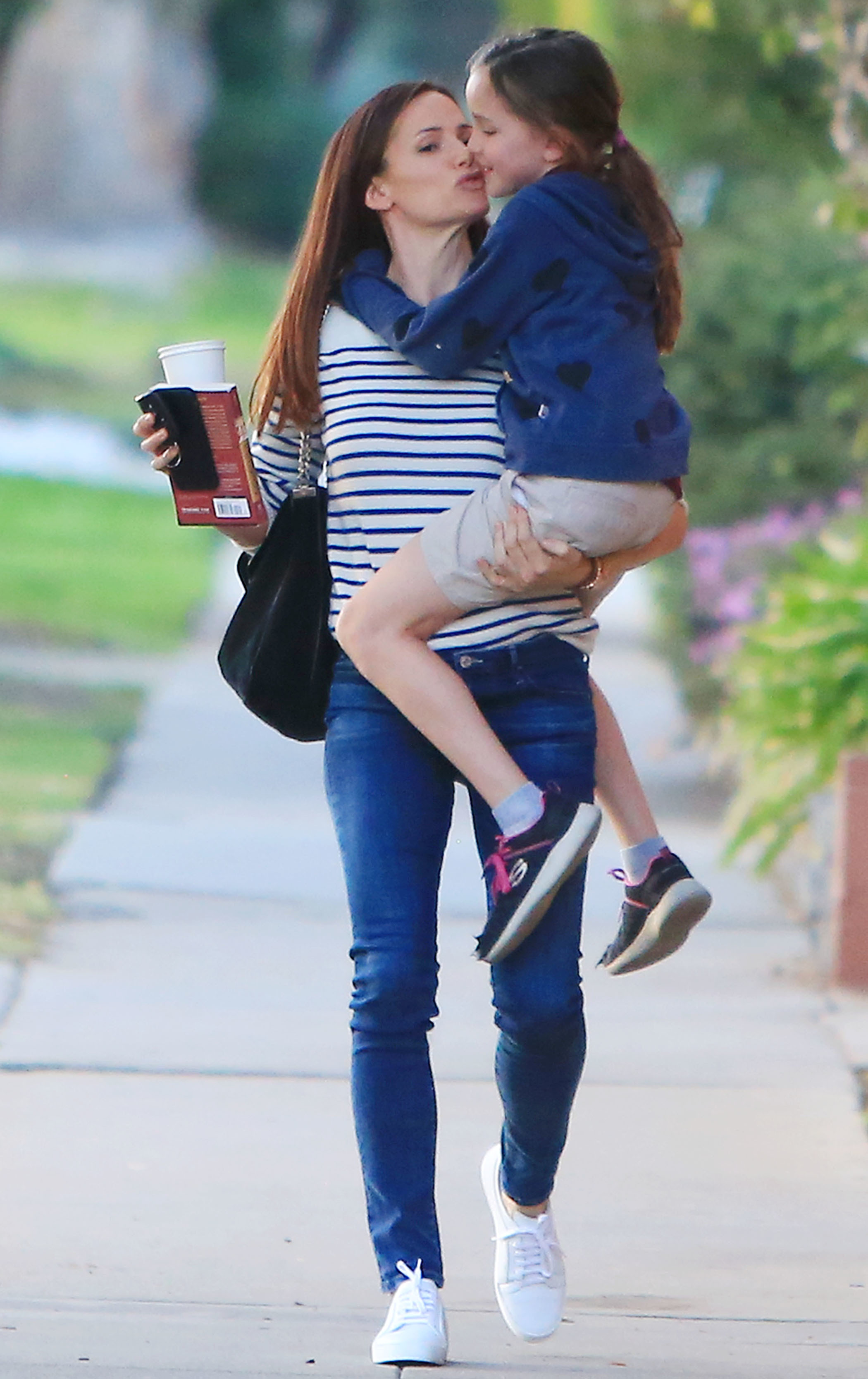 Jennifer Garner and Seraphina Affleck having a good time while shopping in Los Angeles on Feb. 13, 2018.