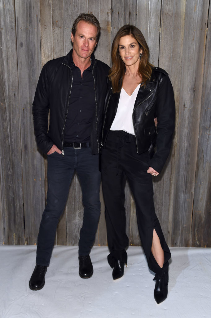 Rande Gerber and Cindy Crawford attend the Calvin Klein Collection during New York Fashion Week at New York Stock Exchange in New York City on Feb. 13, 2018.