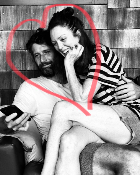 """""""Happy Valentine's Day to my one and only. @freundlich96 ❤️""""   Julianne Moore, who posted this on Feb. 14, 2018."""