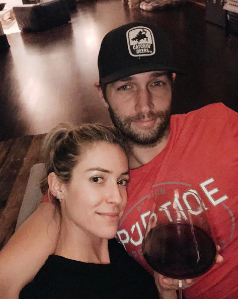 """No makeup, bare feet, red wine. My kind of Valentine's Day ❤️""   Kristin Cavallari, who posted this on Feb. 14, 2018."