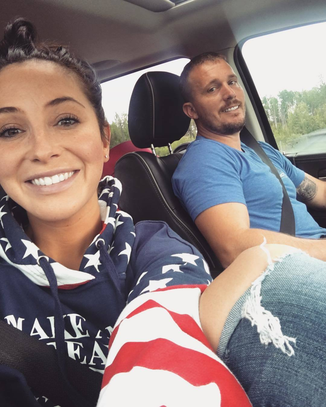 """Happy 4th 🇺🇸""   Bristol Palin, who posted this selfie with Dakota Meyer on July 4, 2016"