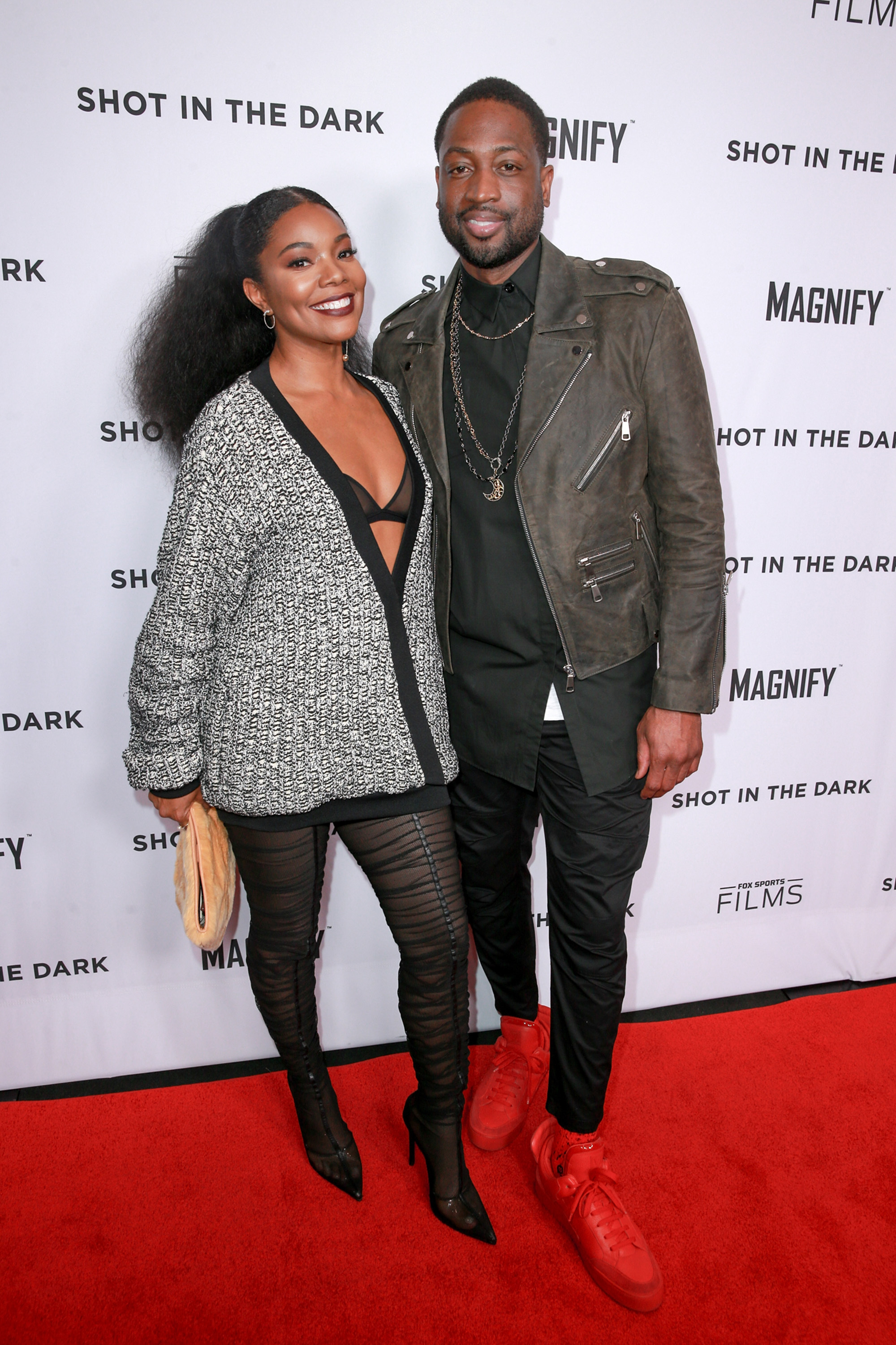 """Gabrielle Union and Dwyane Wade attend the premiere of the basketball documentary """"Shot in the Dark"""" at the Pacific Design Center in West Hollywood on Feb. 15, 2018."""