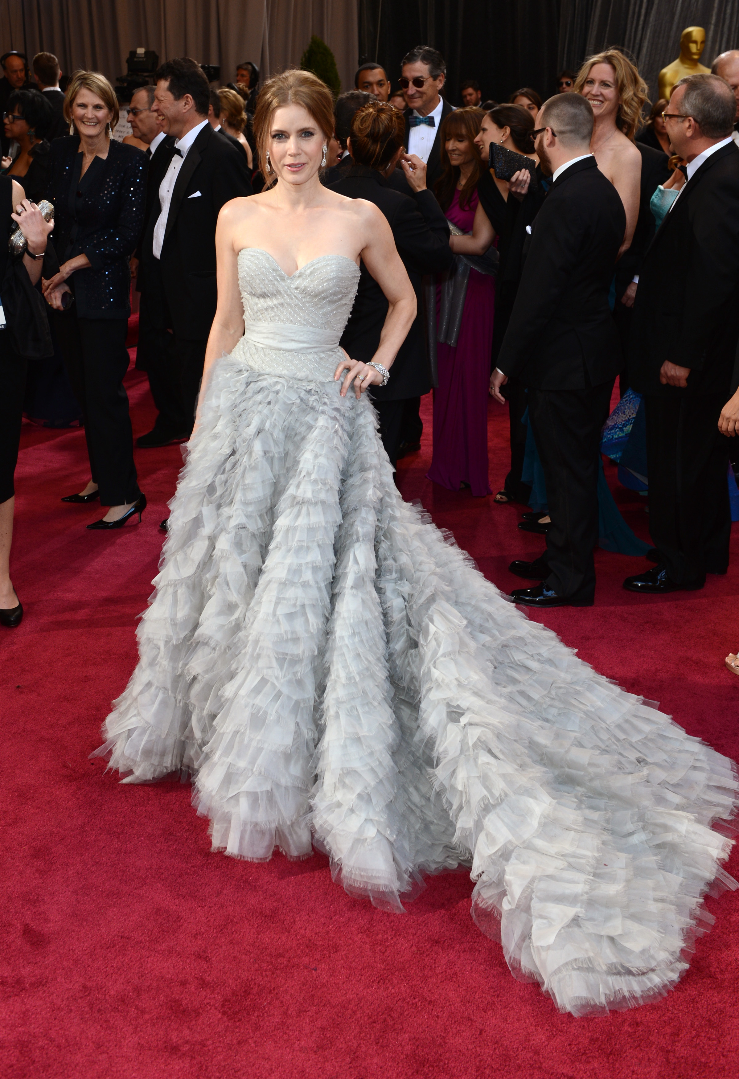 Amy Adams arrives at the 85th Annual Oscars in Hollywood on Feb. 24, 2013.