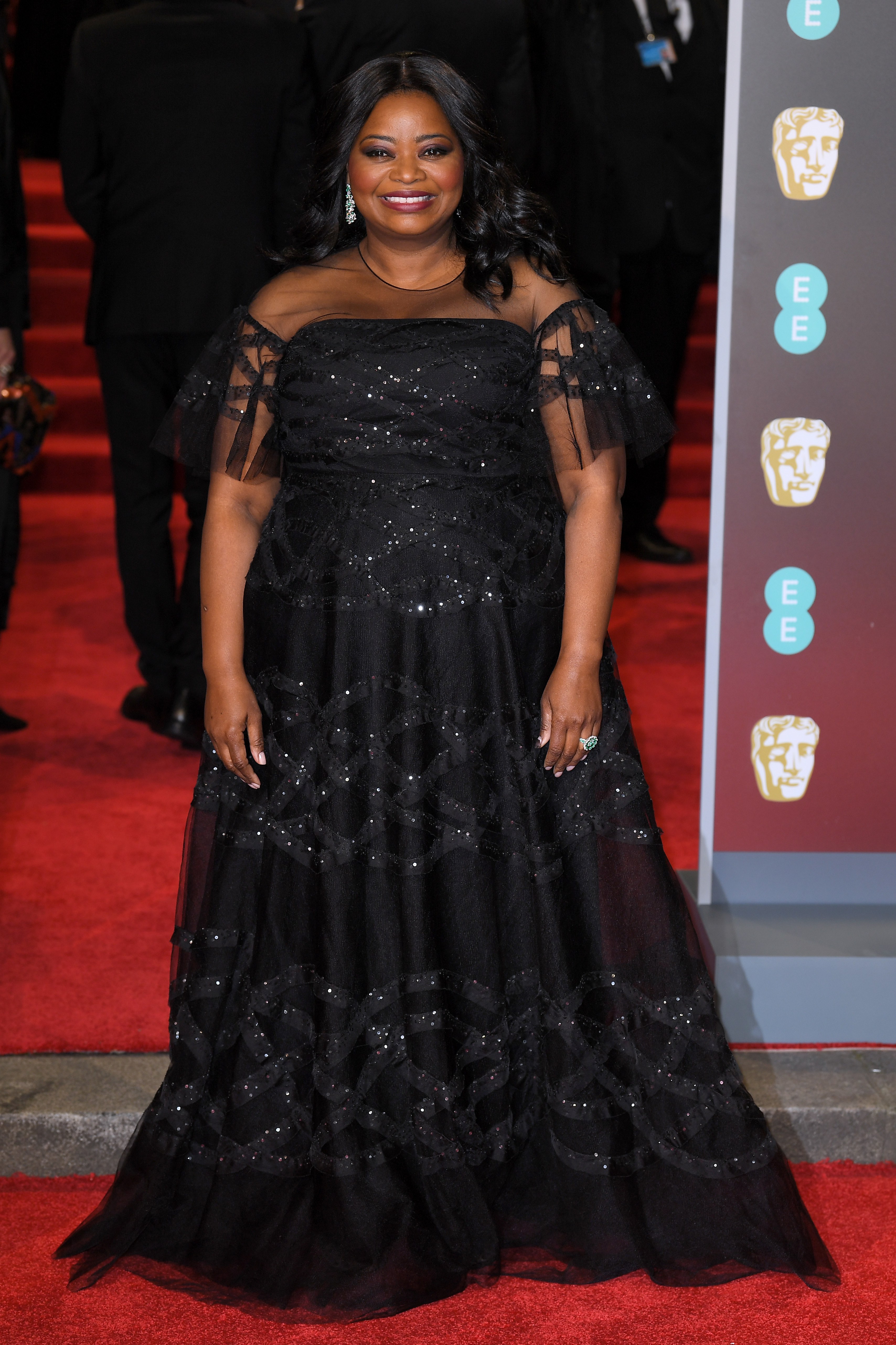 Octavia Spencer arrives at the 71st EE British Academy Film Awards at the Royal Albert Hall in London on Feb. 18, 2018.