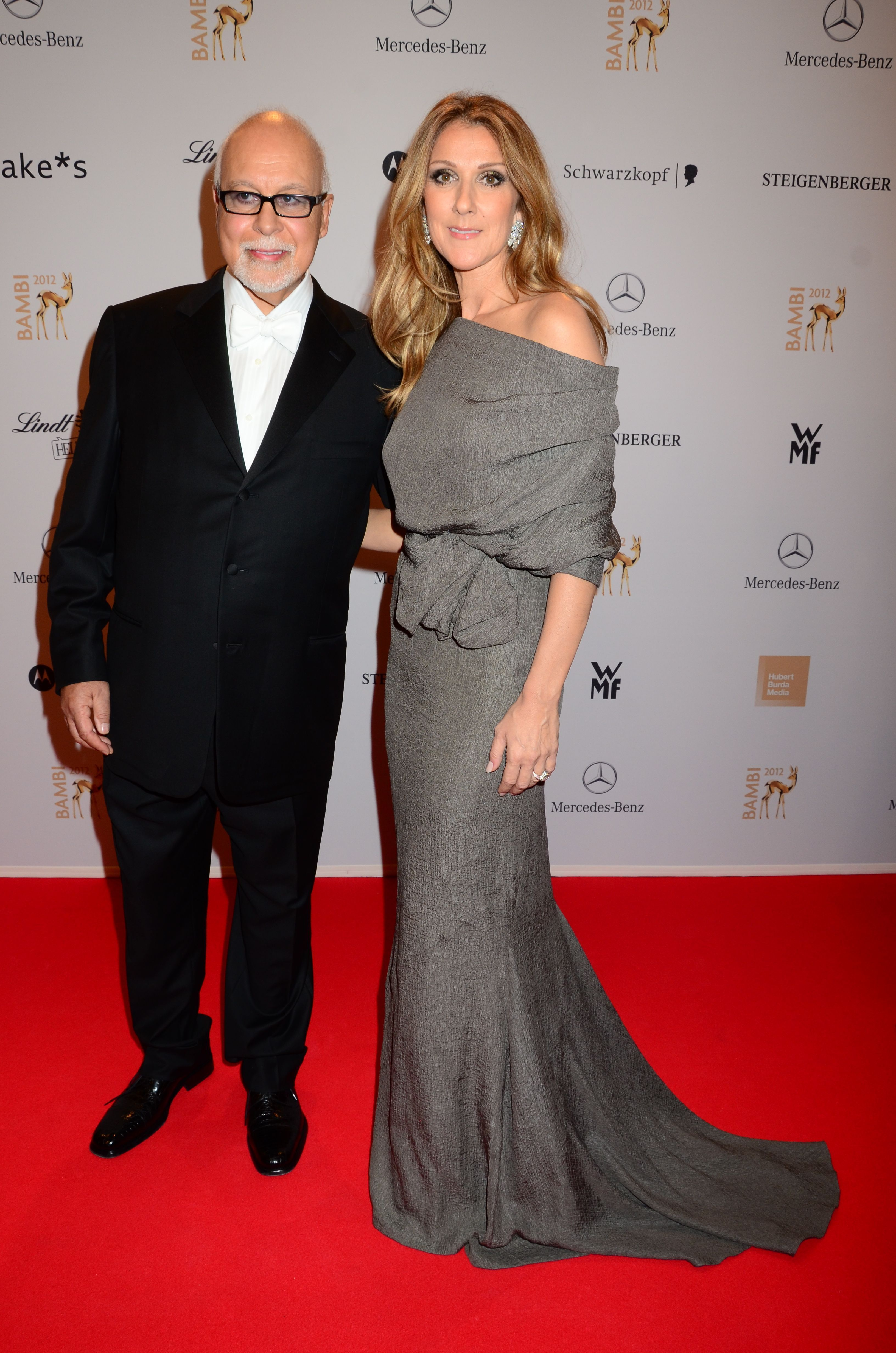 Rene Angelil and Celine Dion arrive at the Bambi Awards Gala at Congress Center in Dusseldorf, Germany, on Nov. 22, 2012.