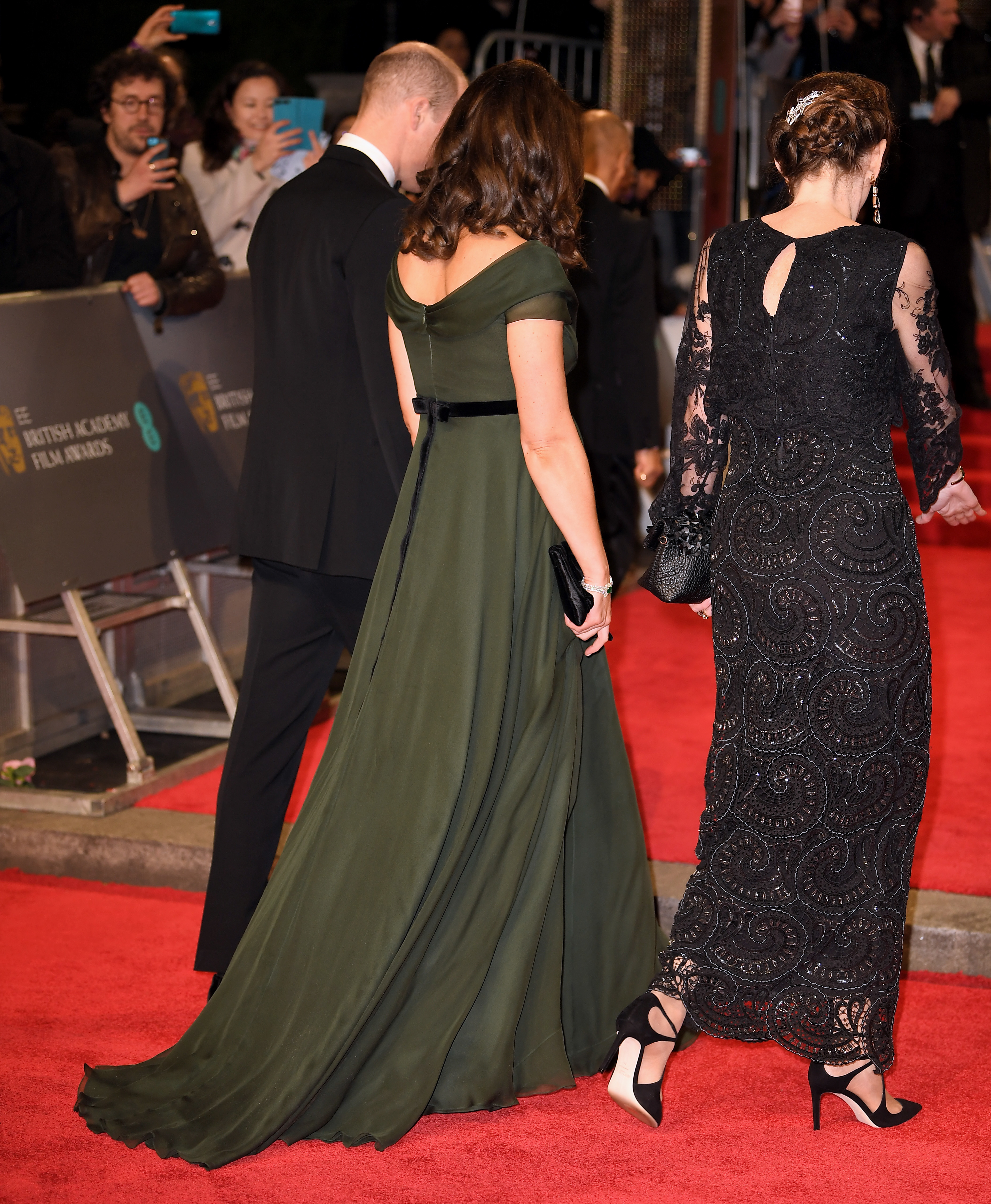 Prince William and Duchess Kate arrive at the 71st EE British Academy Film Awards at the Royal Albert Hall in London on Feb. 18, 2018.