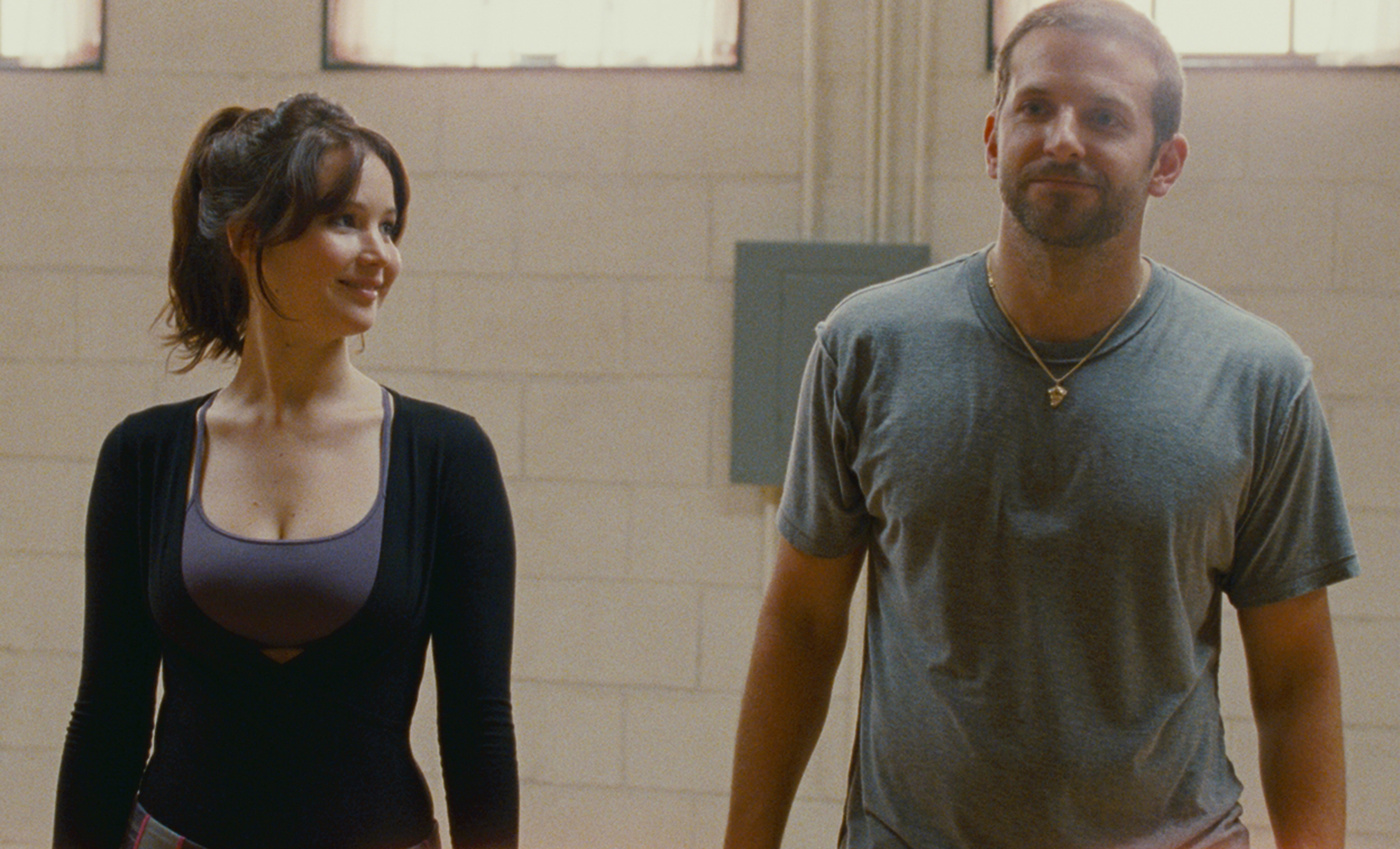 """Jennifer Lawrence and Bradley Cooper appear in the 2012 film """"Silver Linings Playbook."""""""