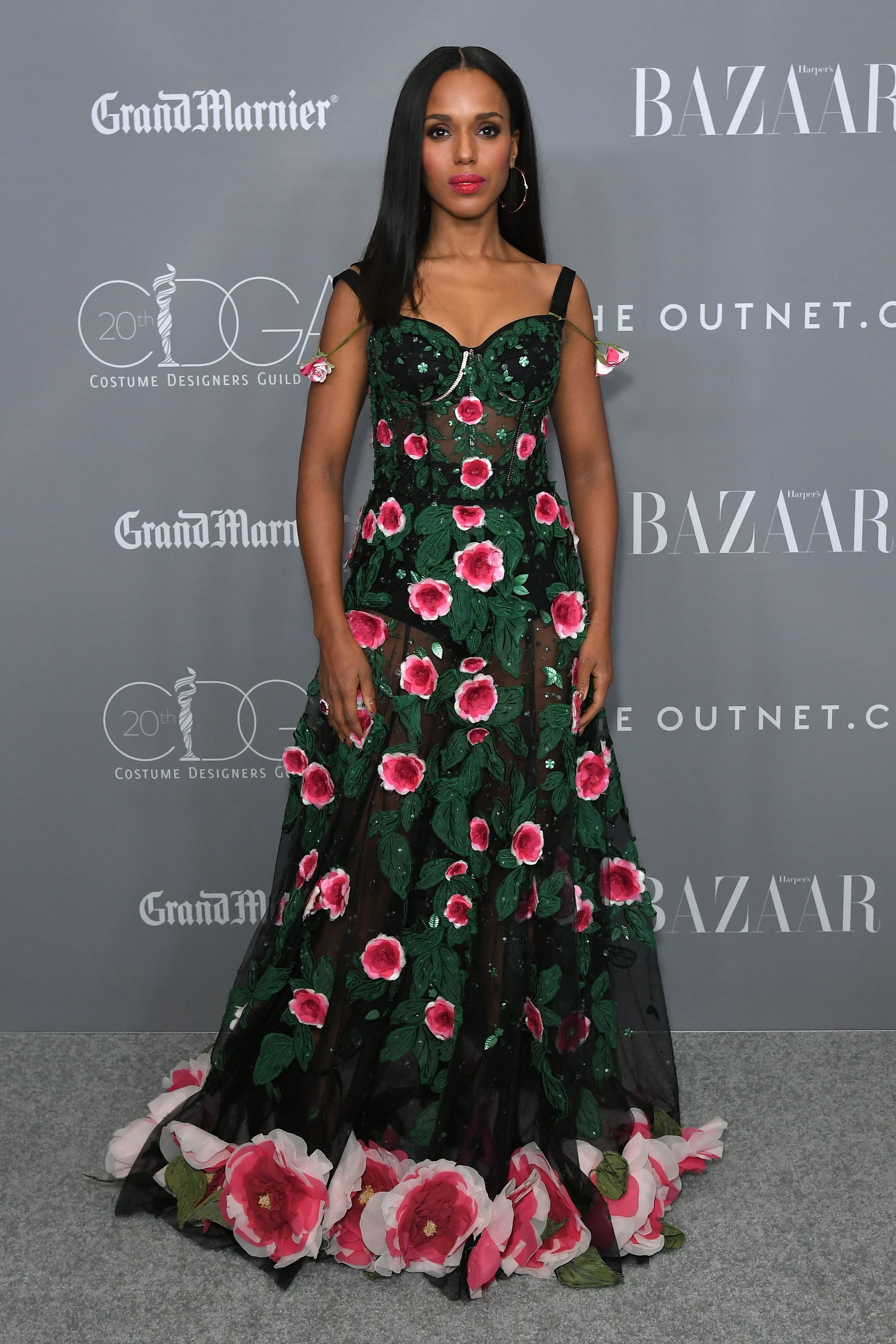 Kerry Washington attends the 20th Annual Costume Designers Guild Awards in Los Angeles on Feb. 20, 2018.