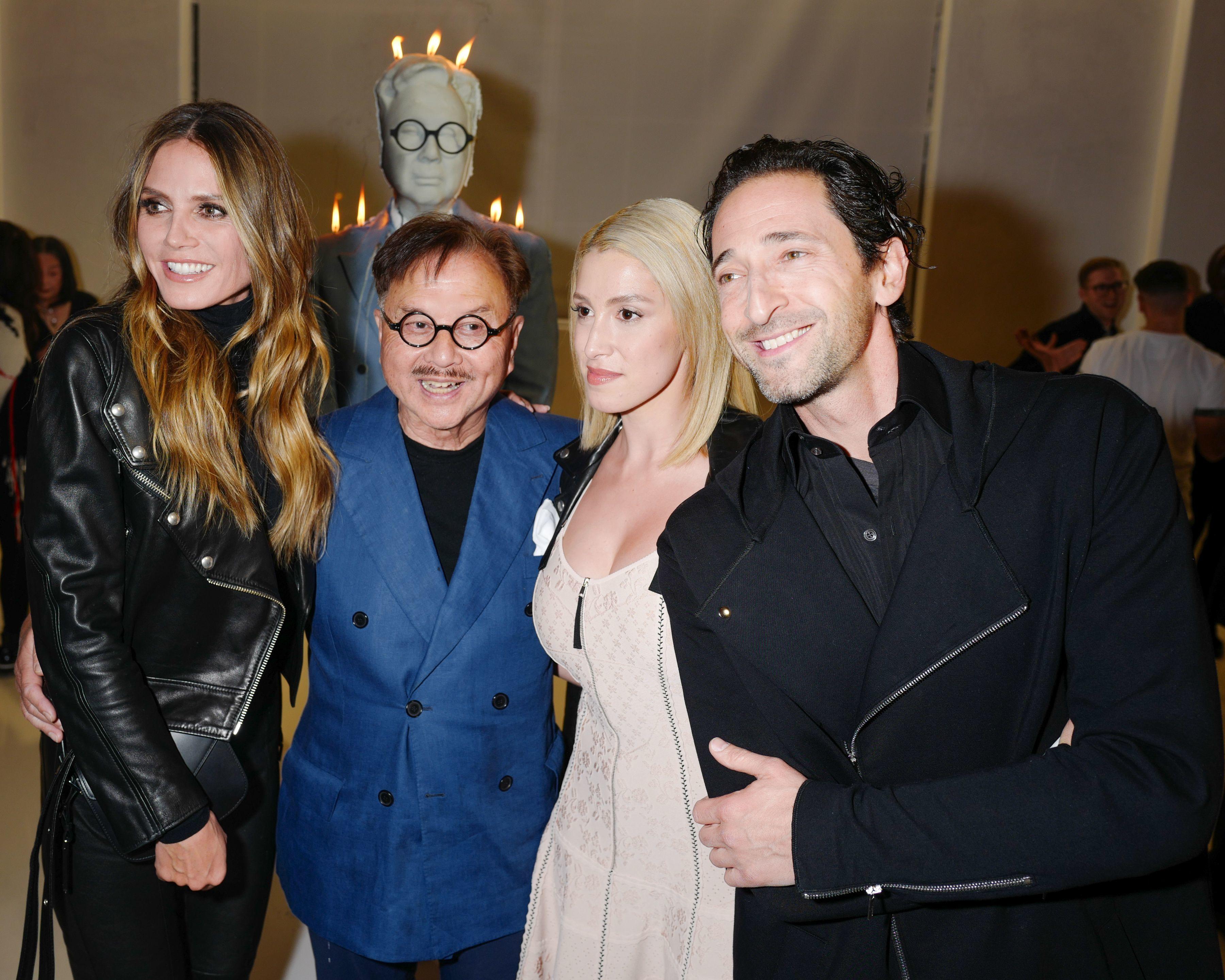 Heidi Klum, Michael Chow, Vanessa Rano Adrien Brody attend the Mr Chow 50th Anniversary celebration in Los Angeles on Feb. 16, 2018.