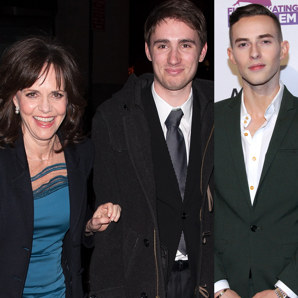 Sally Field and her son, Sam Greisman, attend the New York Film Critics Circle Awards at Crimson in New York City on Jan. 7, 2013. Adam Rippon attends the Figure Skating in Harlem 20th Anniversary Champions in Life Gala at 583 Park Avenue in New York City on May 2, 2017.