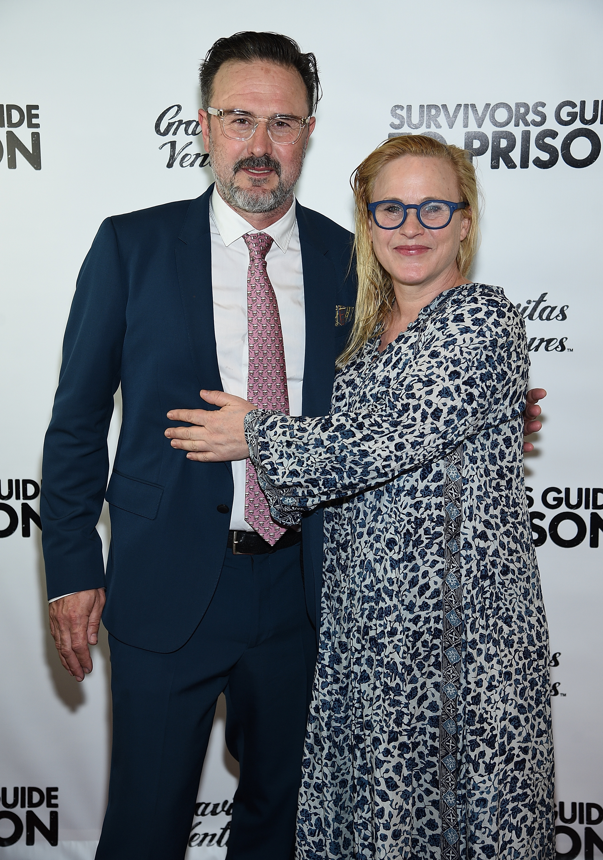 "David Arquette and Patricia Arquette attend ""Survivors Guide To Prison"" New York Premiere at The Landmark at 57 West in New York City on Feb. 21, 2018."