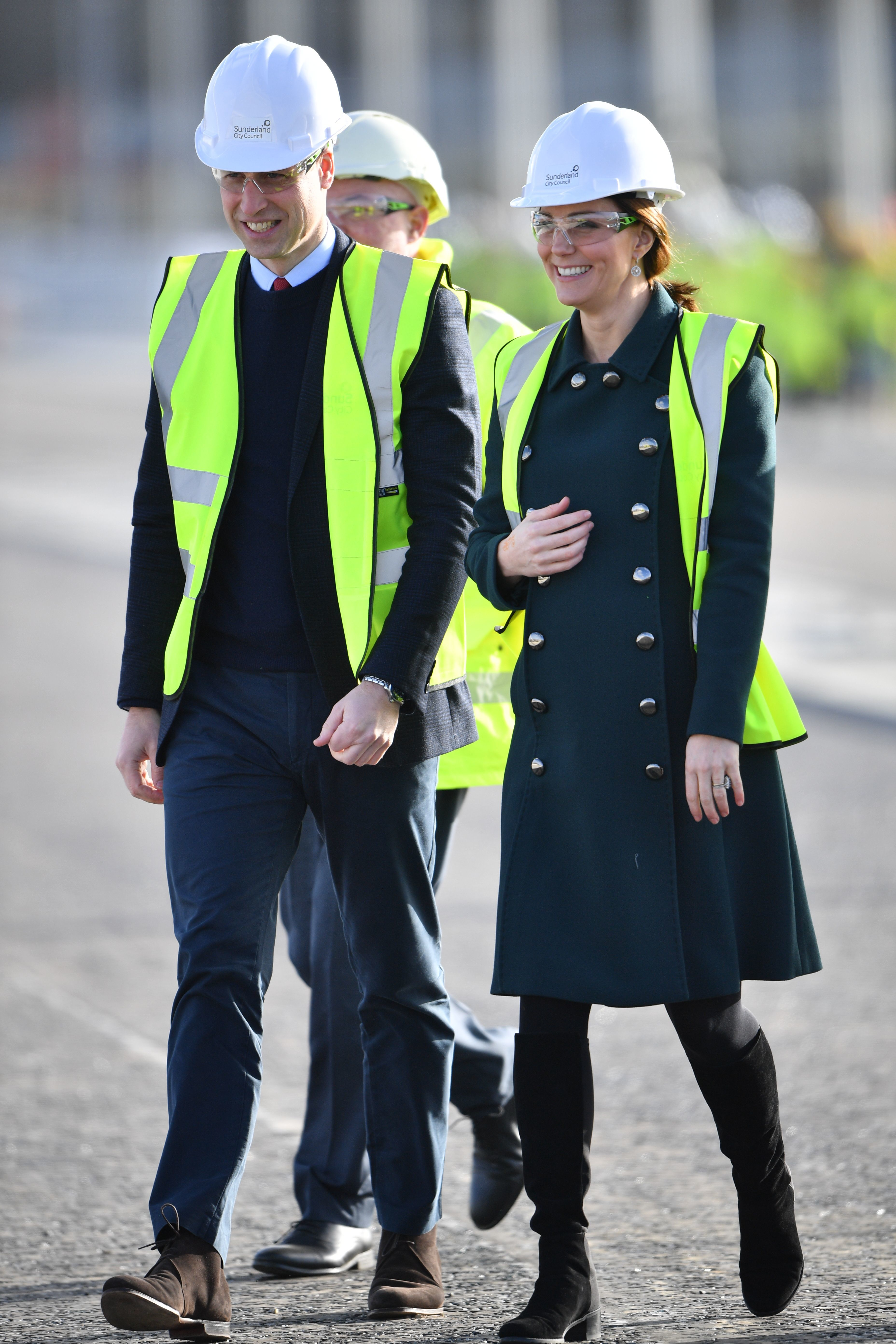 Prince William and Duchess Kate visit to Sunderland on Feb. 21, 2018.
